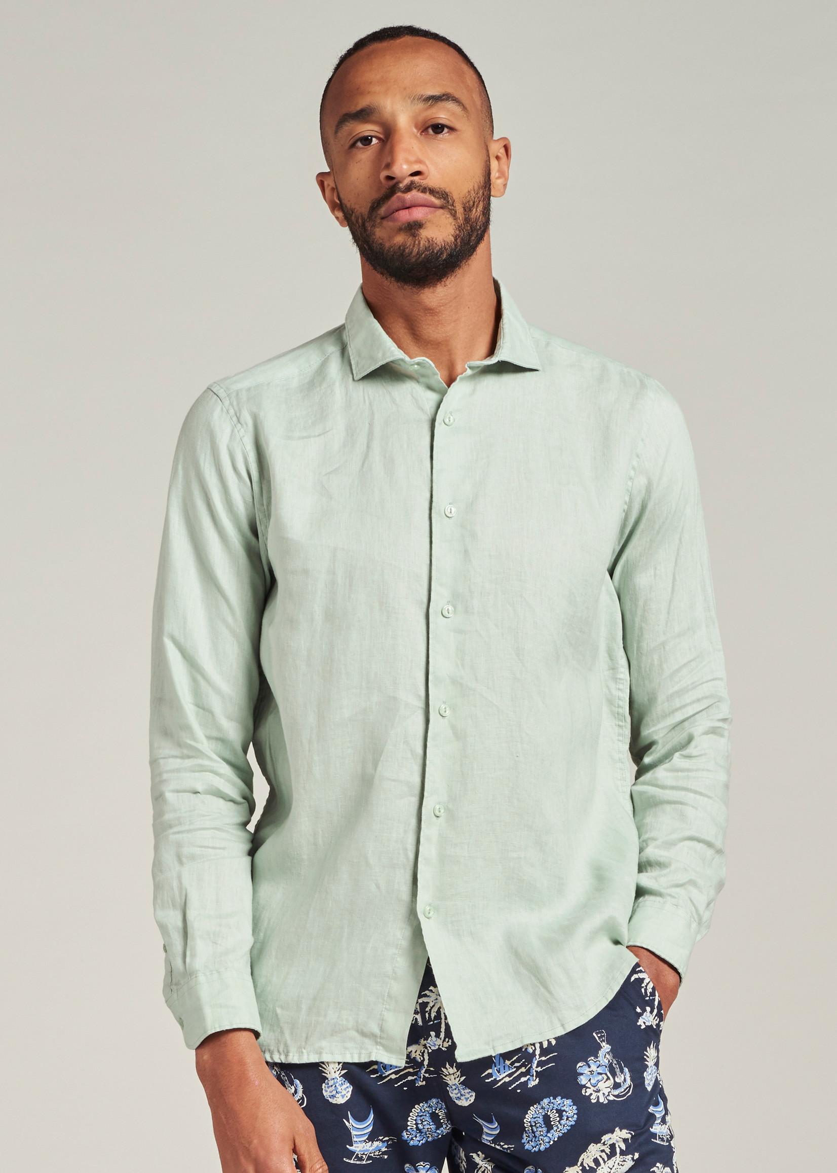 Dstrezzed Jagger Shirt Linen | Sea Green | Dstrezzed