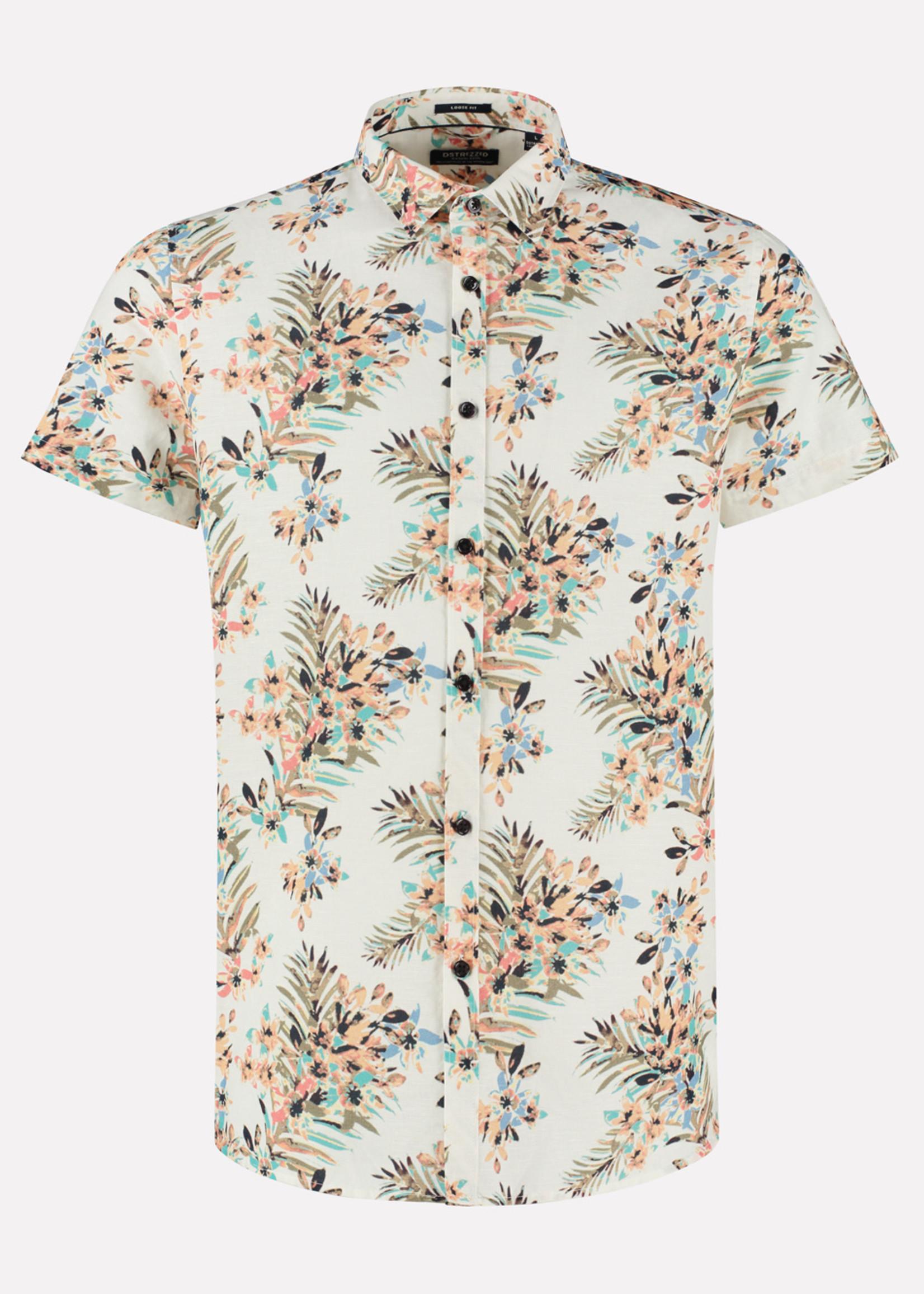 Dstrezzed Chemise à manches courtes à  fleurs | White | Dstrezzed