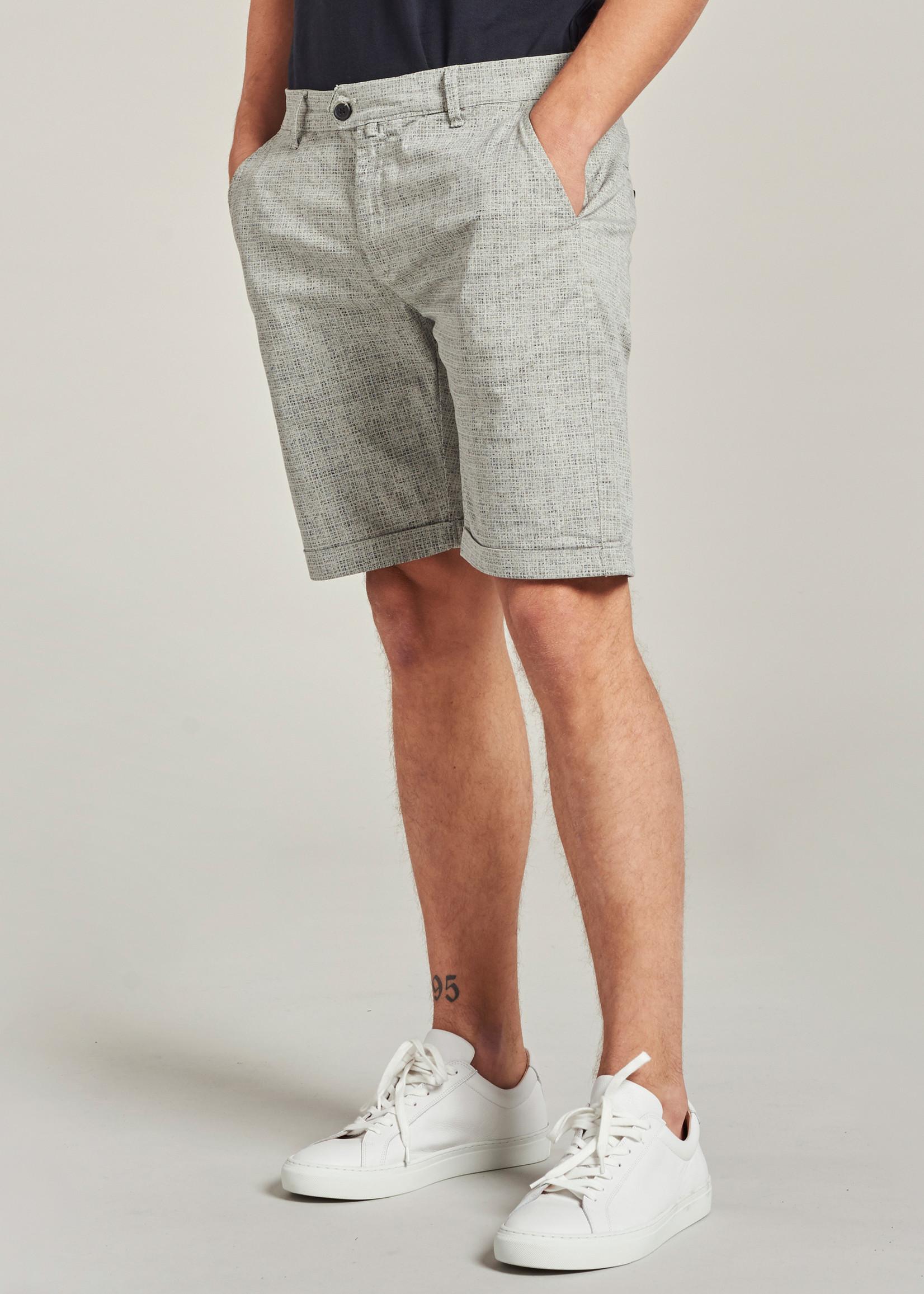Dstrezzed De Fonda Chino shorts met stretch | Grijs | Dstrezzed