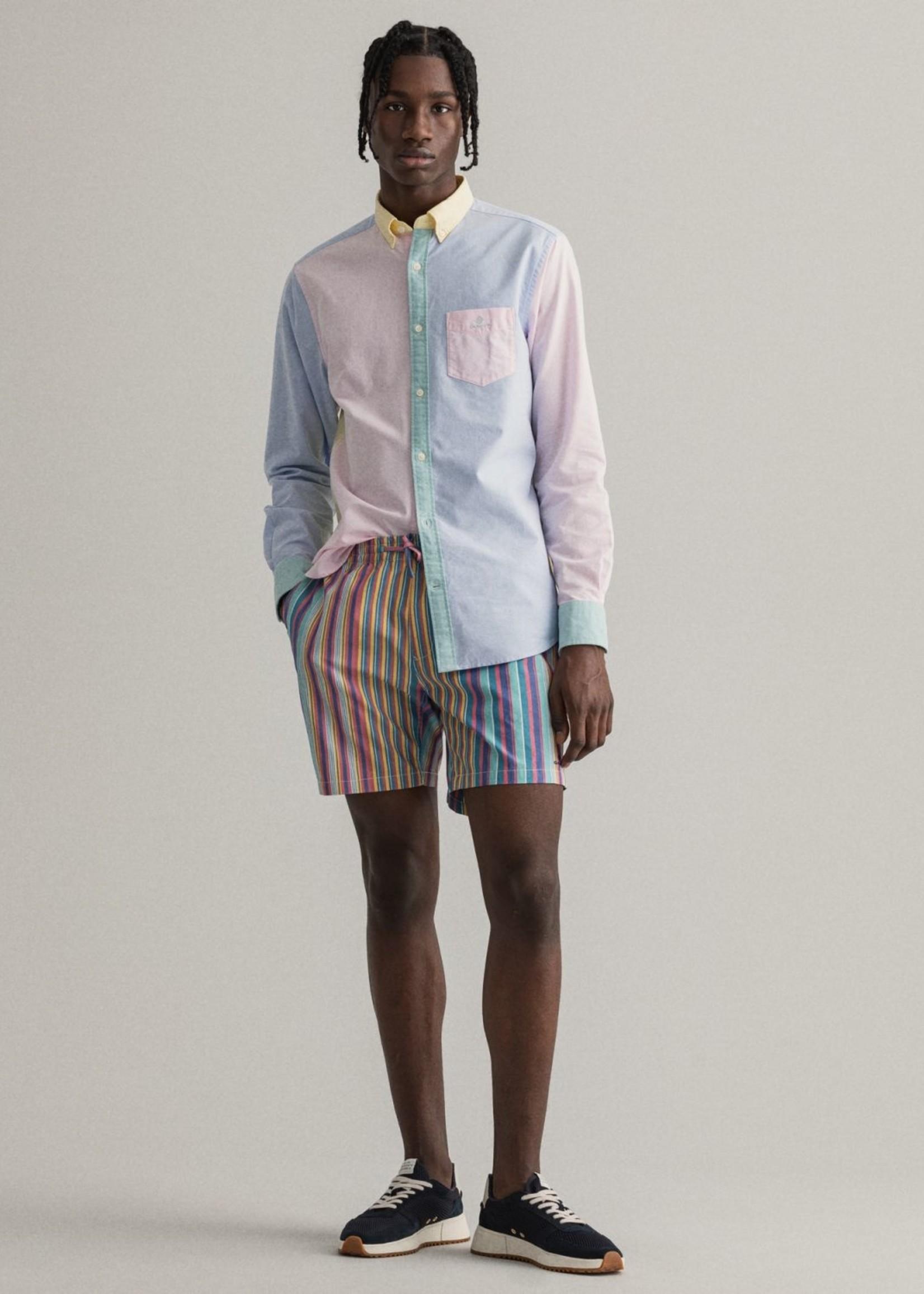 GANT Regular Fit hemd met panelen | Multicolor | GANT