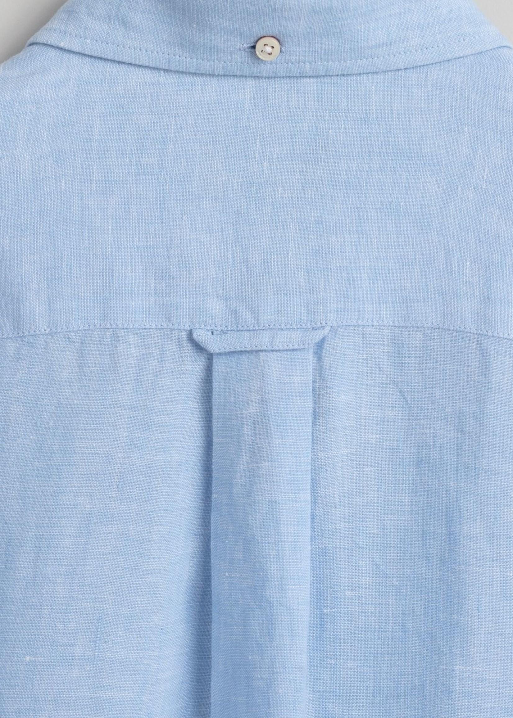 GANT Chemise regular fit en lin | Bleu clair | GANT