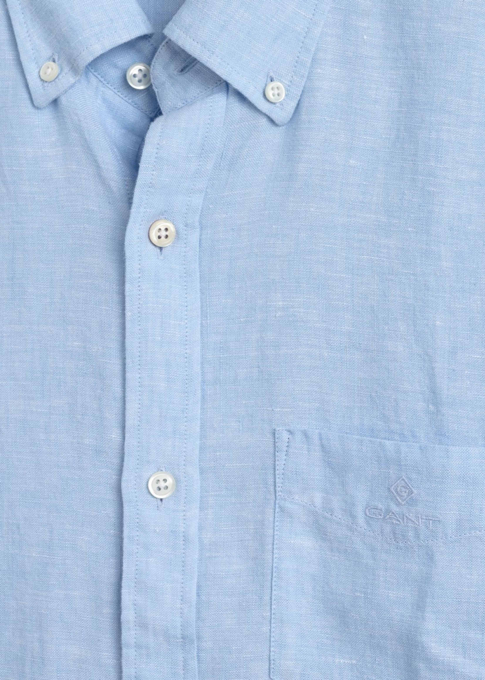 GANT Regular Fit Linen Shirt   Light Blue   GANT
