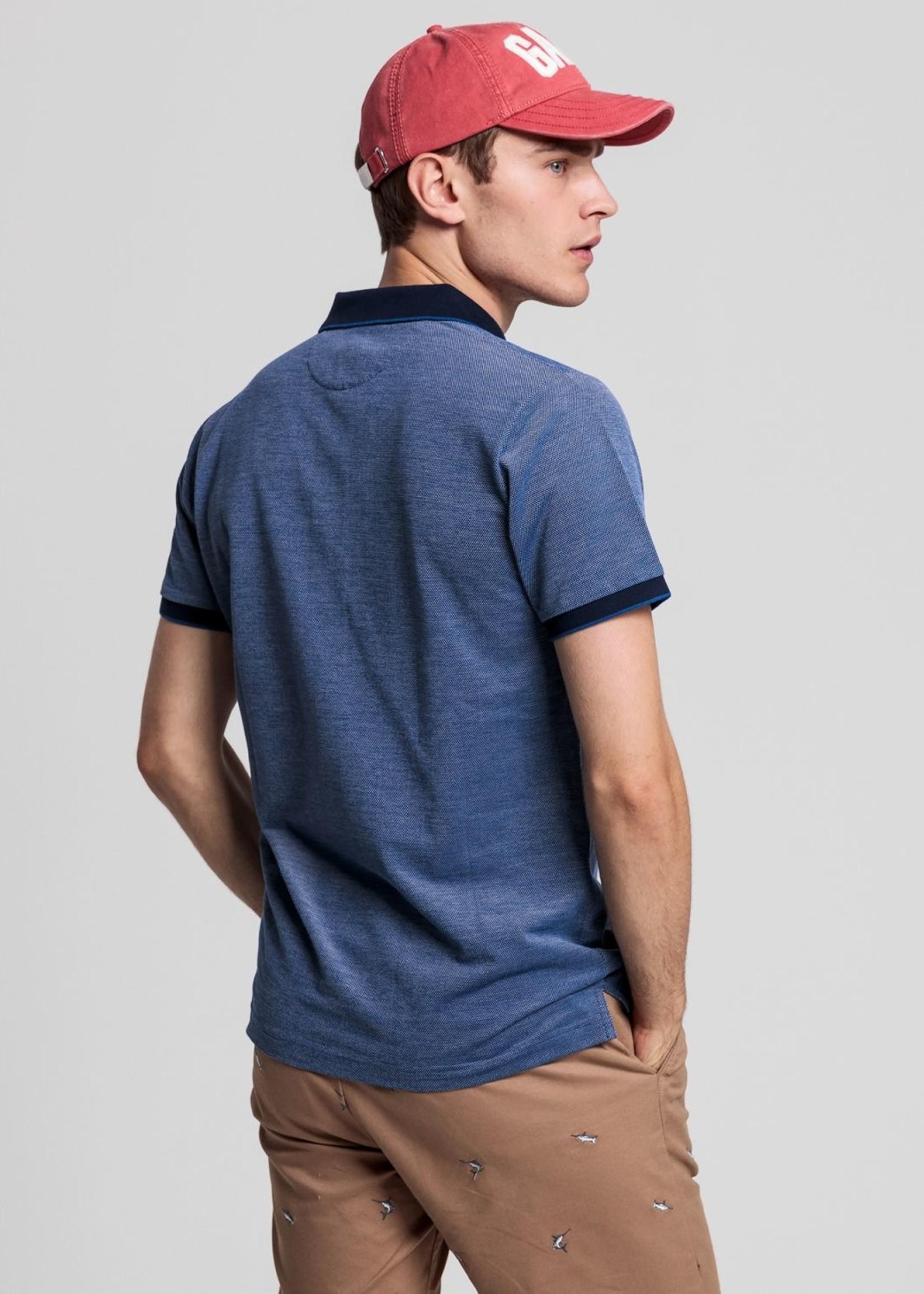 GANT Polo Rugger Oxford en coton piqué quadricolore | Bleu | GANT