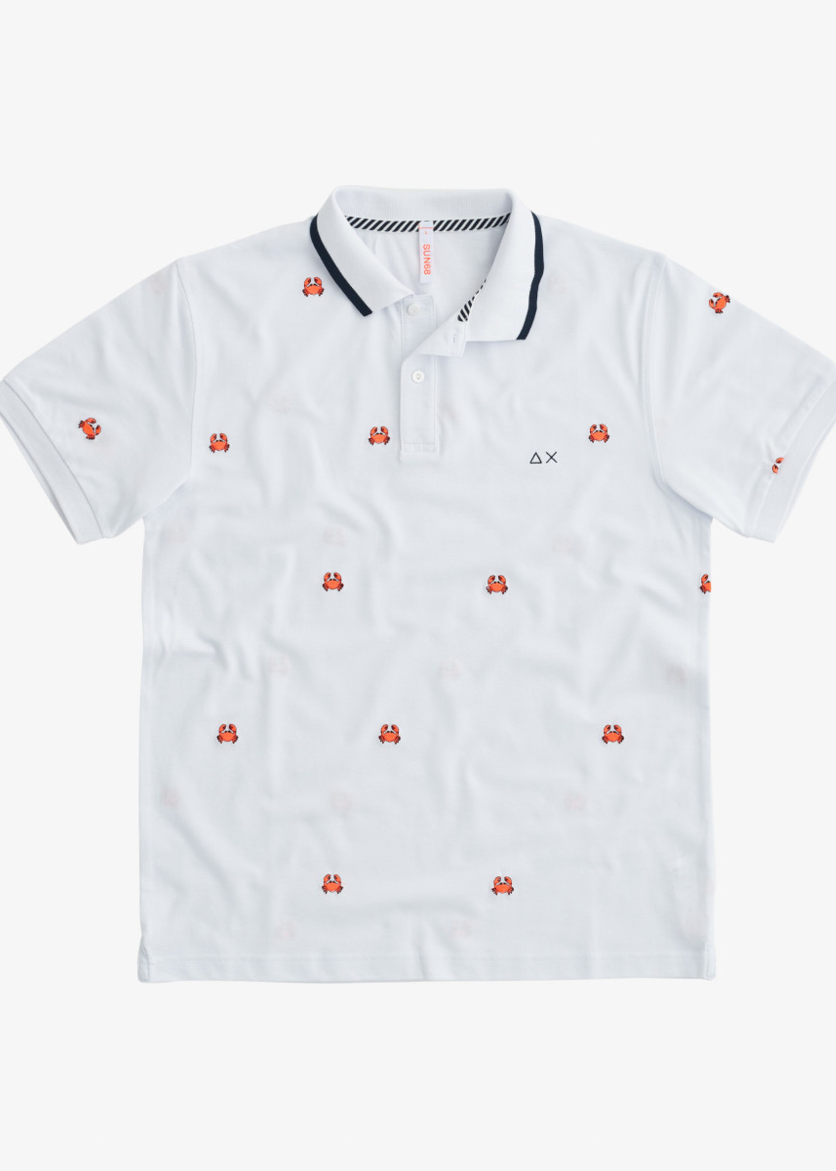 SUN68 Polo Full Embrodery EL. | Wit | SUN68