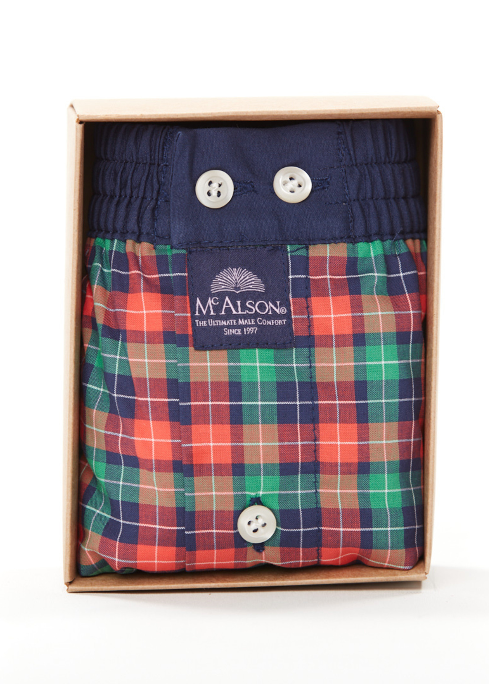 Mc Alson M4242 - Gingham red & green