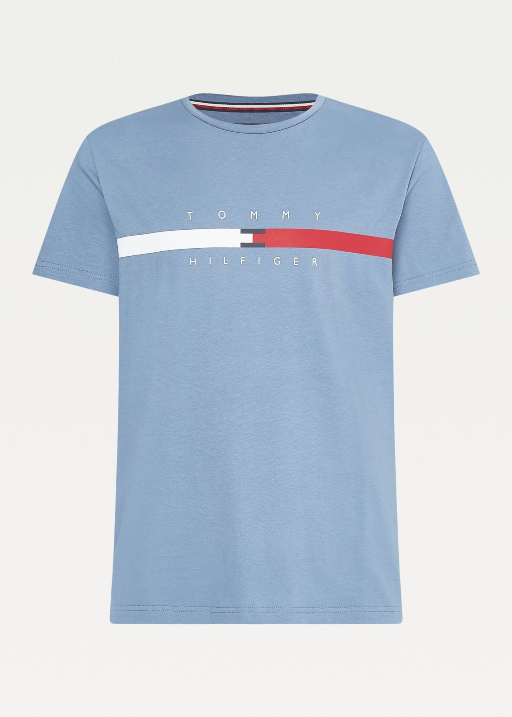 Tommy Hilfiger Organic cotton Signature Tape Logo T-Shirt | Blue | Tommy Hilfiger