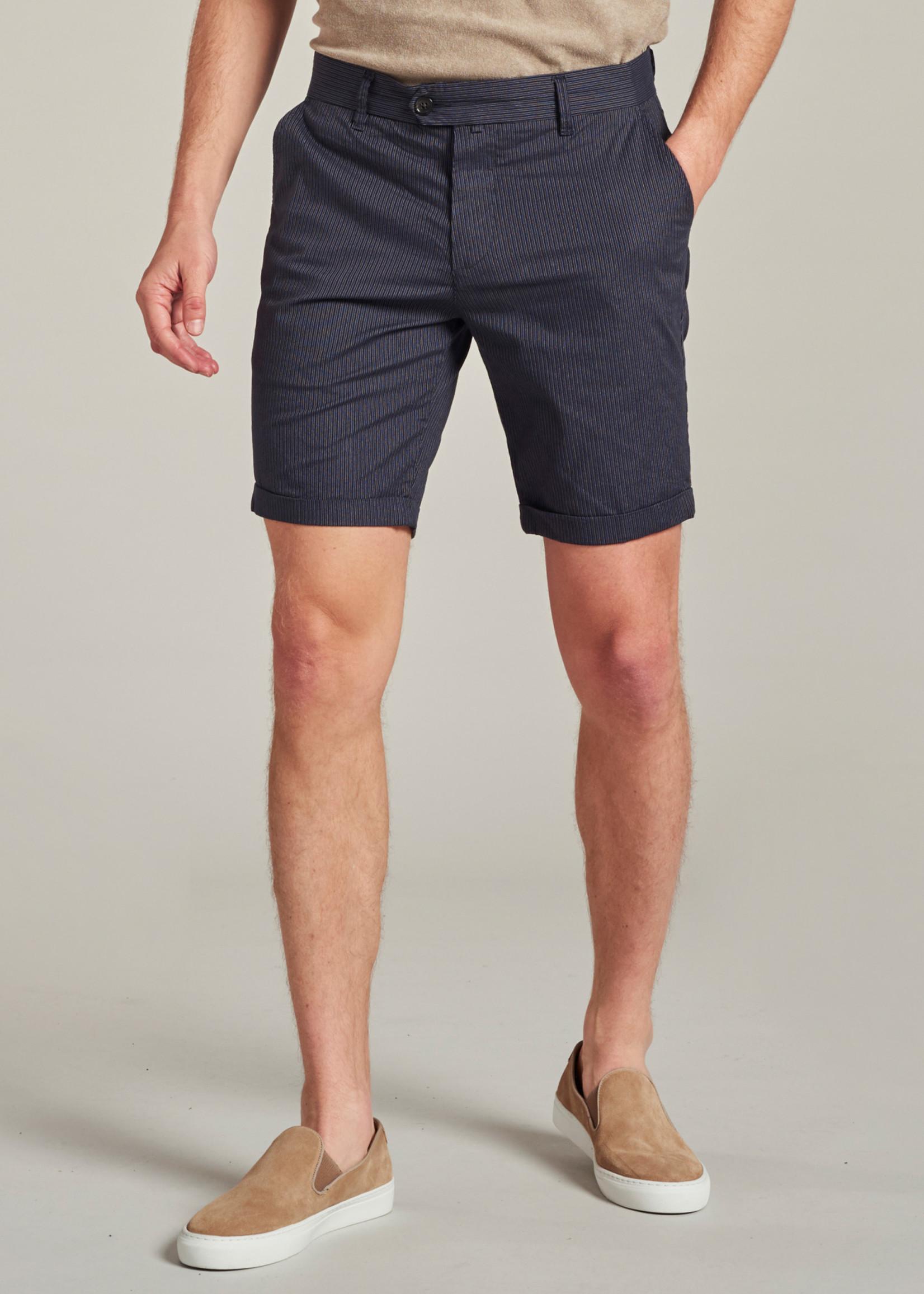 Dstrezzed De Fonda Chino shorts met streep | Donkerblauw | Dstrezzed
