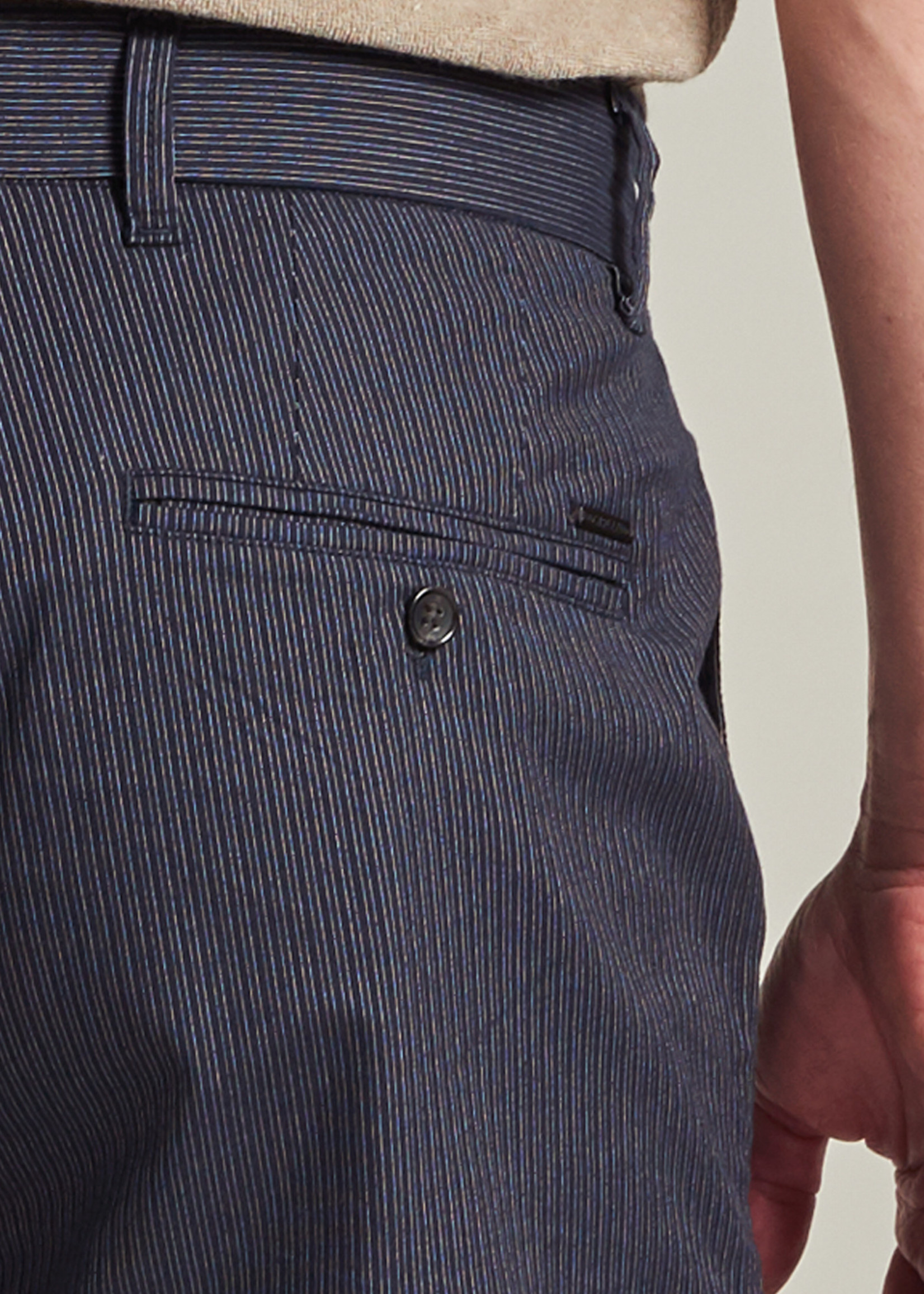 Dstrezzed Le Fonda Chino shorts avec rayures | Bleu marine | Dstrezzed