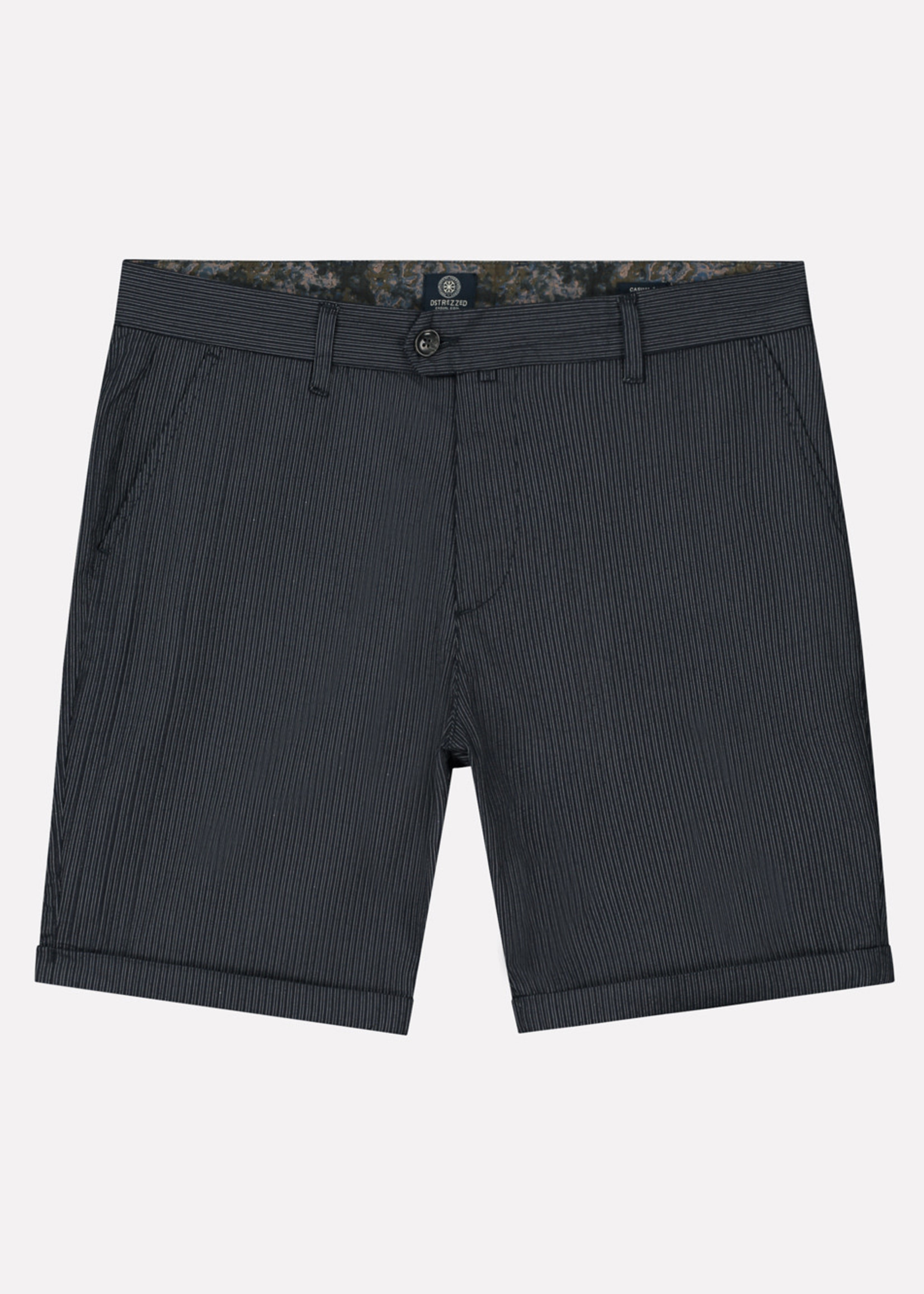 Dstrezzed The Fonda Chino shorts with stripes | Dark Navy | Dstrezzed