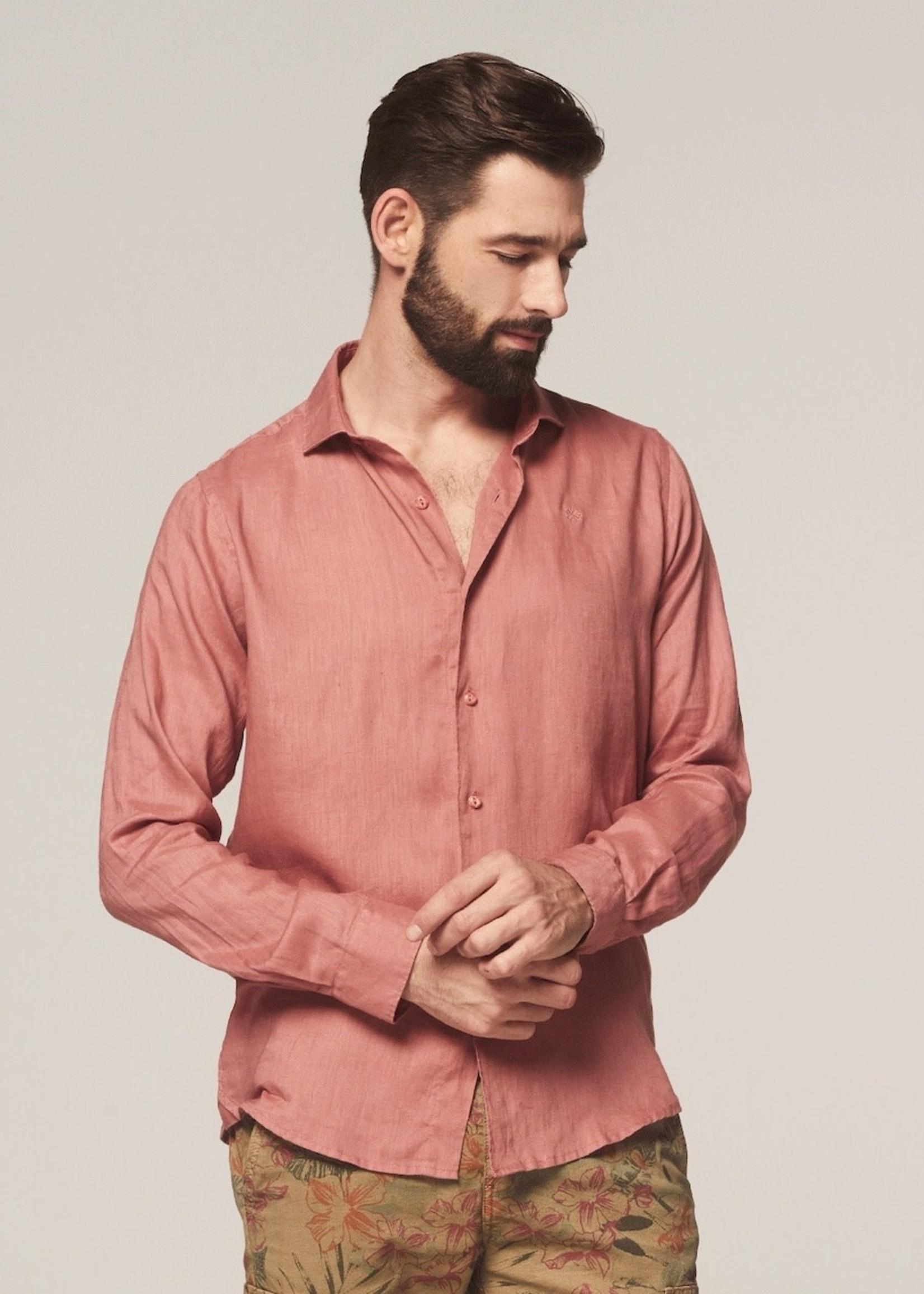 Dstrezzed 100% linen shirt | Old Pink | Dstrezzed