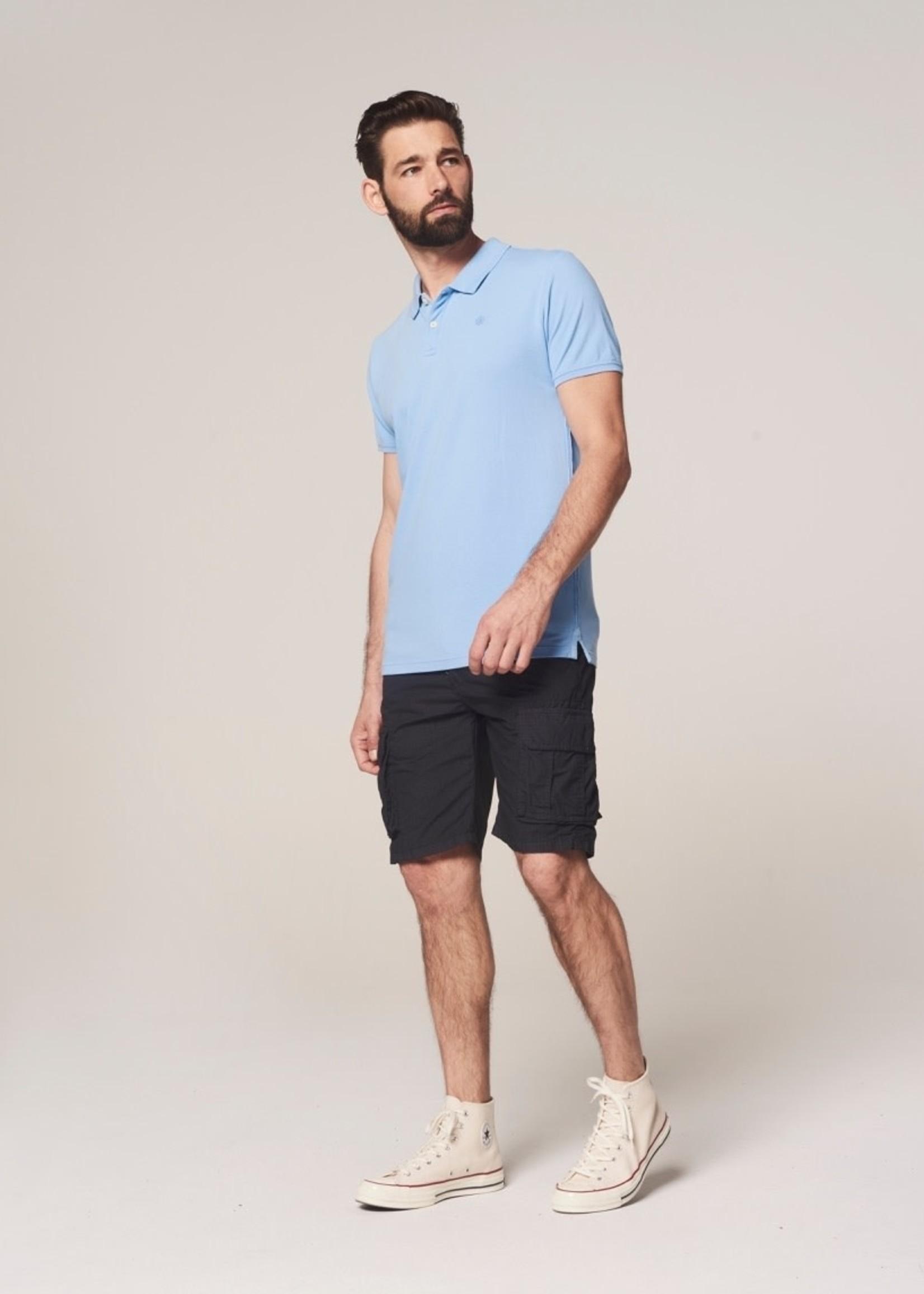 Dstrezzed Cargo shorts with belt graphic | Dark Navy | Dstrezzed