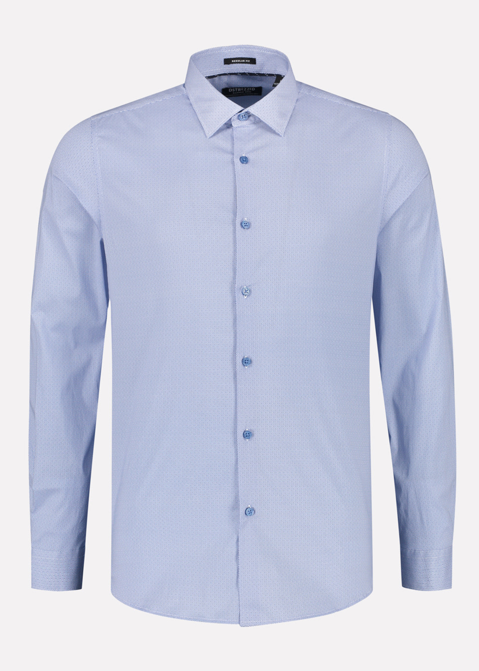 Dstrezzed Overhemd met fantasie patroon | Blauw | Dstrezzed
