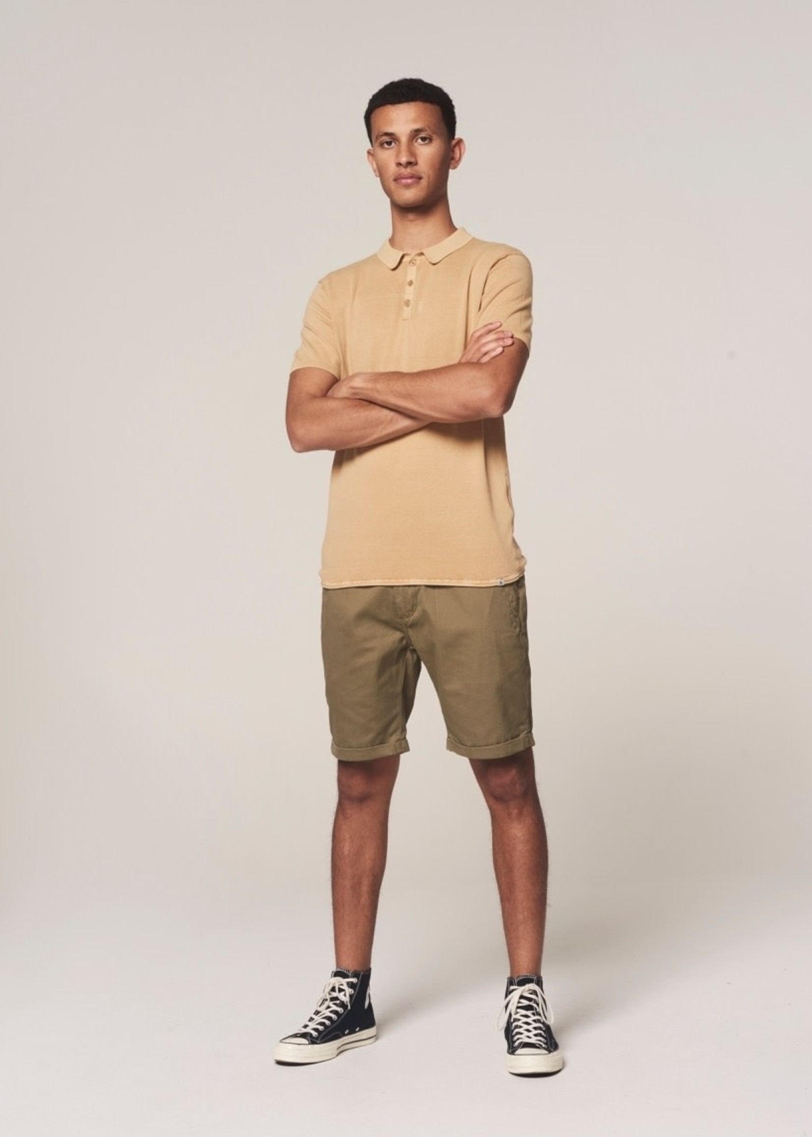 Dstrezzed Short chino en cotton | Vert militaire | Dstrezzed