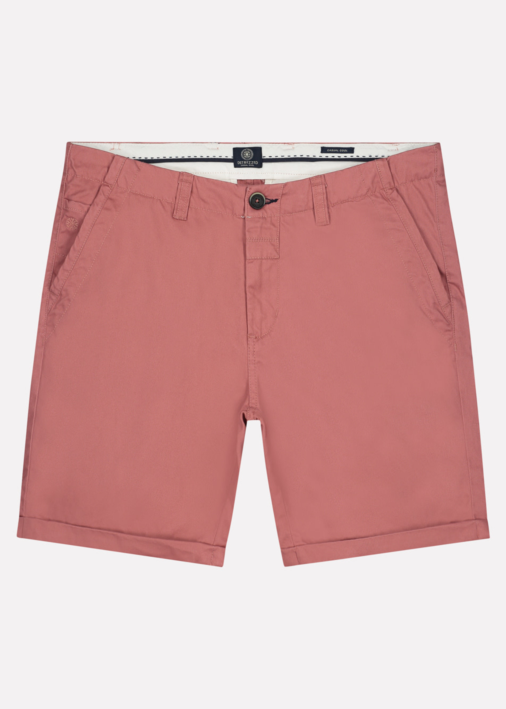 Dstrezzed Short chino en cotton | Vieux rose | Dstrezzed