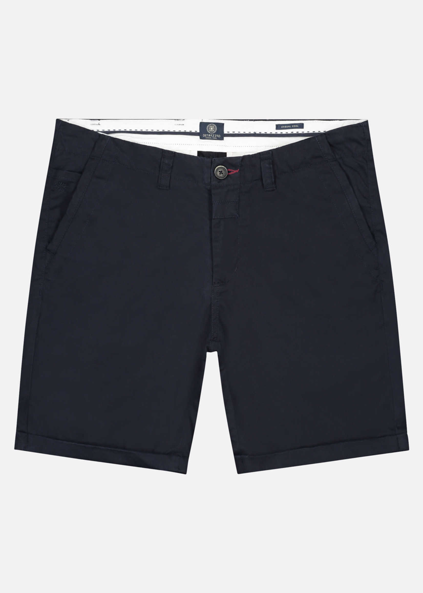 Dstrezzed Chino korte broek dense twill | Donkerblauw | Dstrezzed