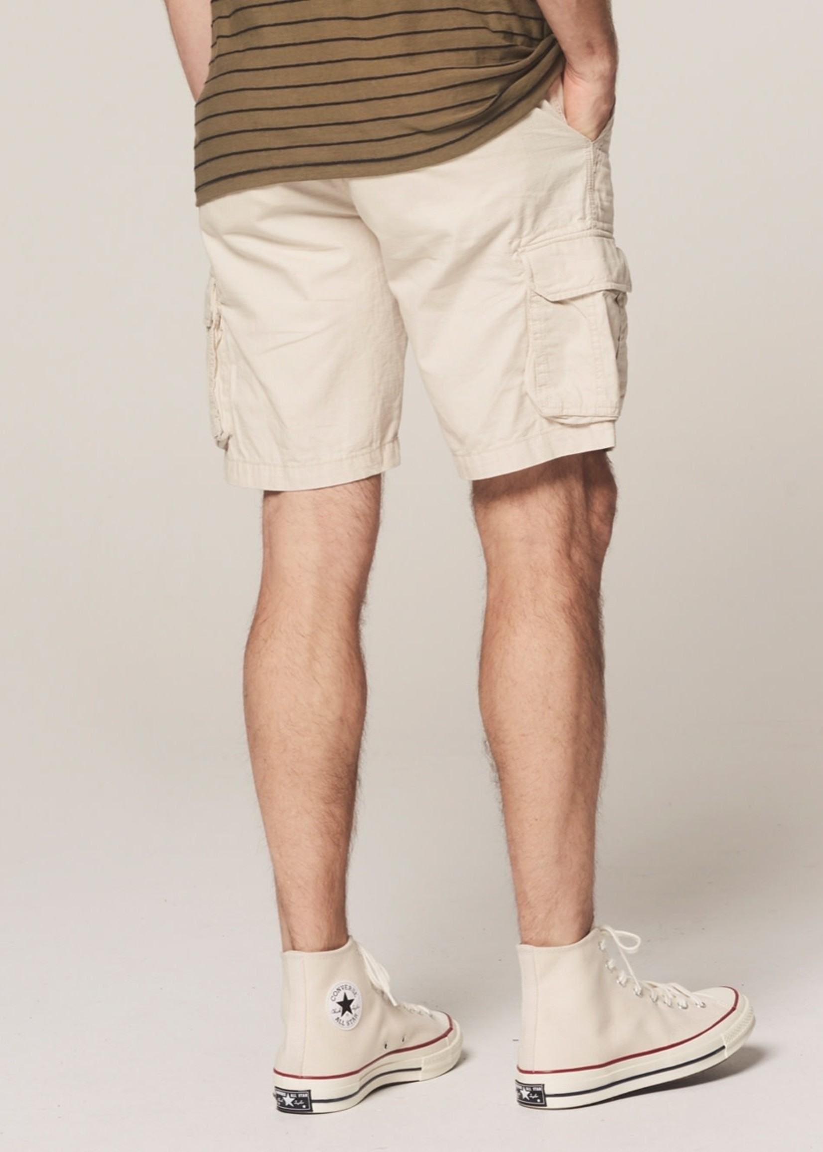 Dstrezzed Cargo shorts ripstop with belt | Beige | Dstrezzed