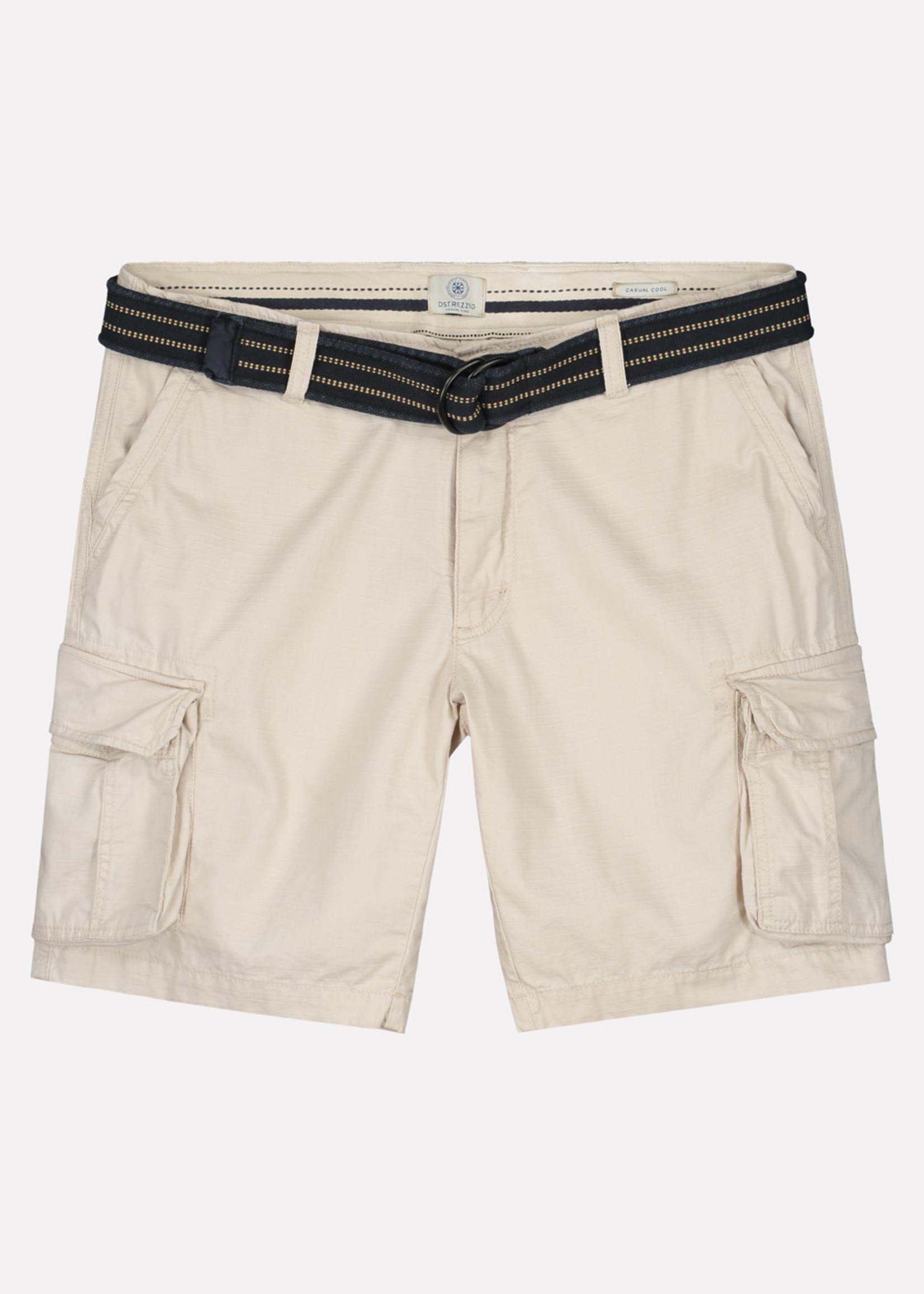 Dstrezzed Cargo korte broek ripstop met riem | Beige | Dstrezzed