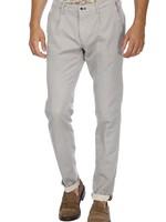 Mason's Chino broek met één plooi Toscana Golf met bedrukte jersey
