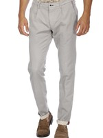Mason's Chino pants with one pleat Toscana Golf with printed jersey