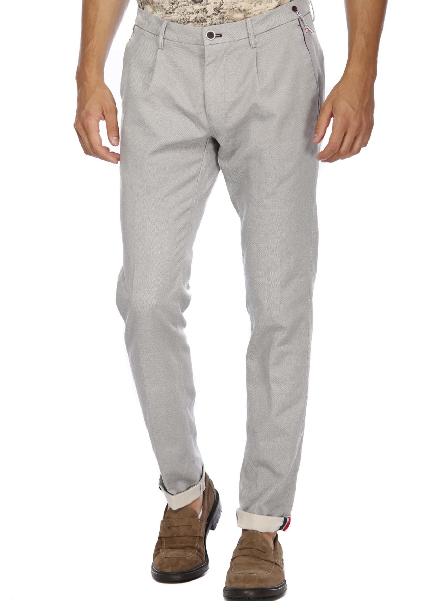 Mason's Pantalon chino à un pli Toscana Golf avec jersey imprimé | Gris | Mason's