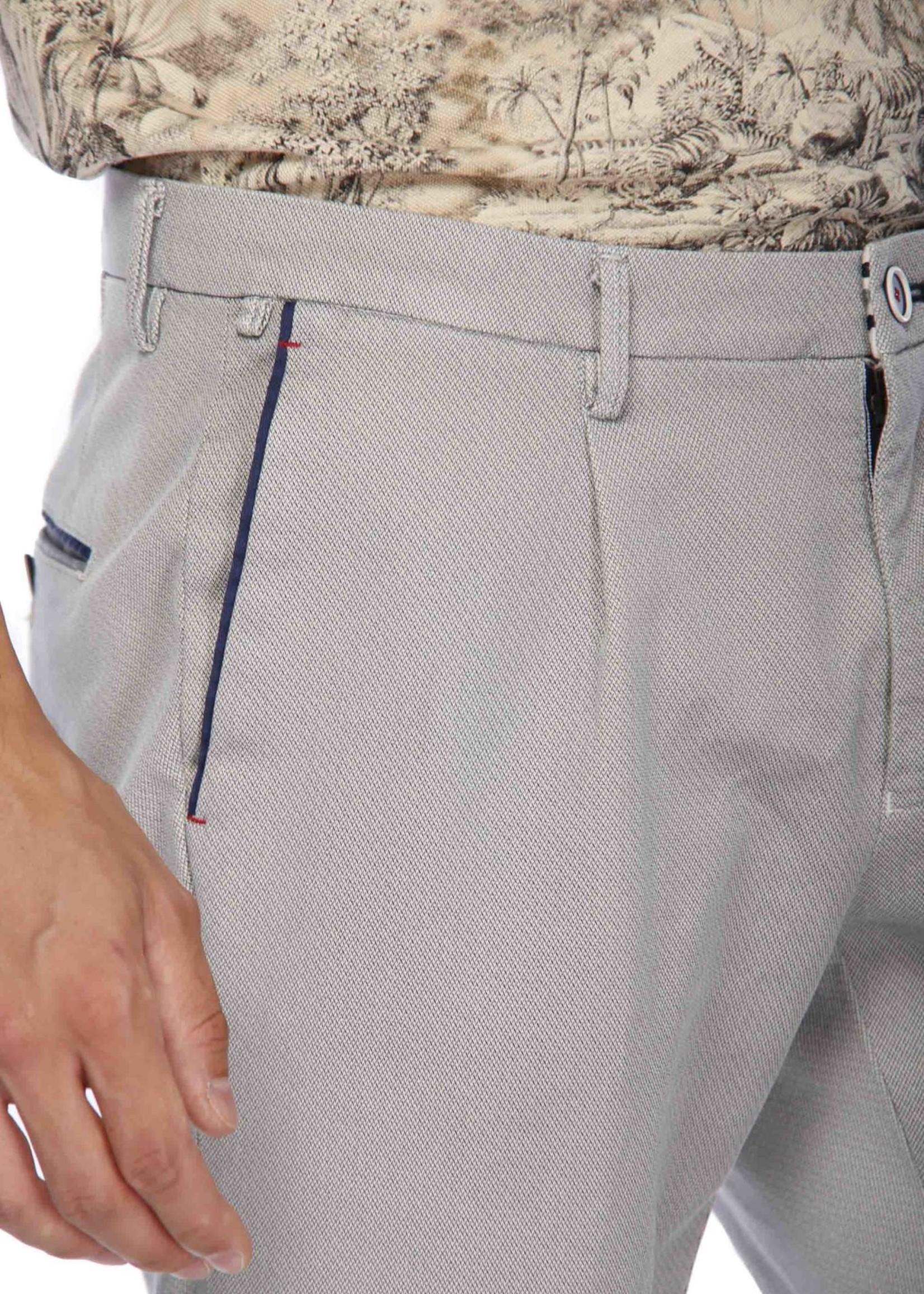 Mason's Chino broek met één plooi Toscana Golf met bedrukte jersey | Grijs | Mason's