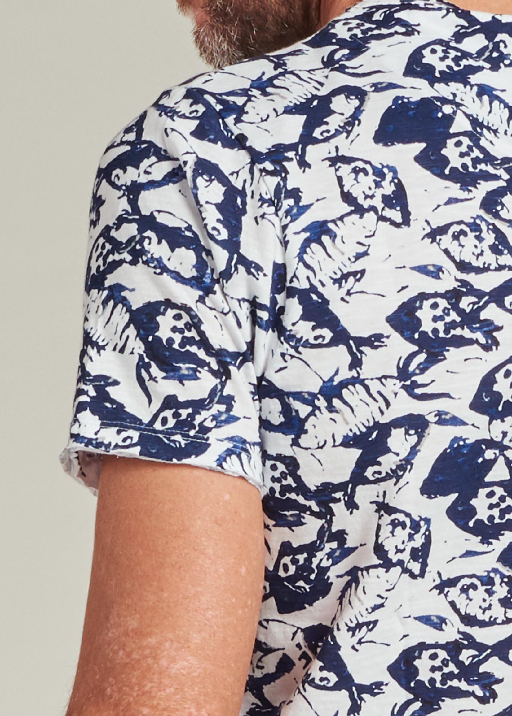 Dstrezzed T-shirt met zee print  | Wit | Dstrezzed