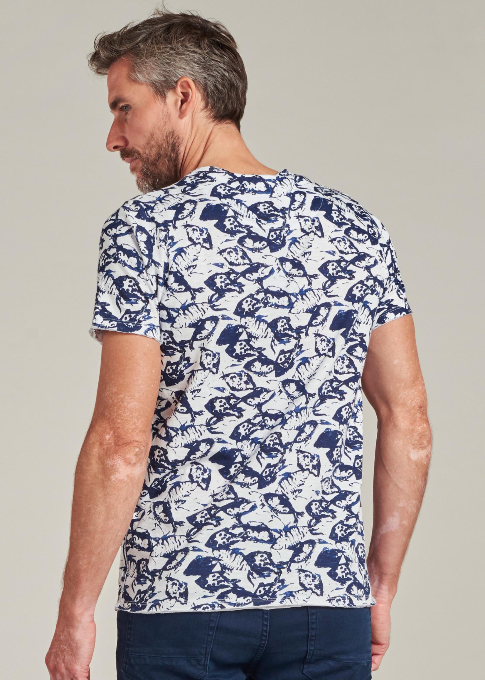 Dstrezzed T-shirt avec imprimé marin  | Blanc | Dstrezzed