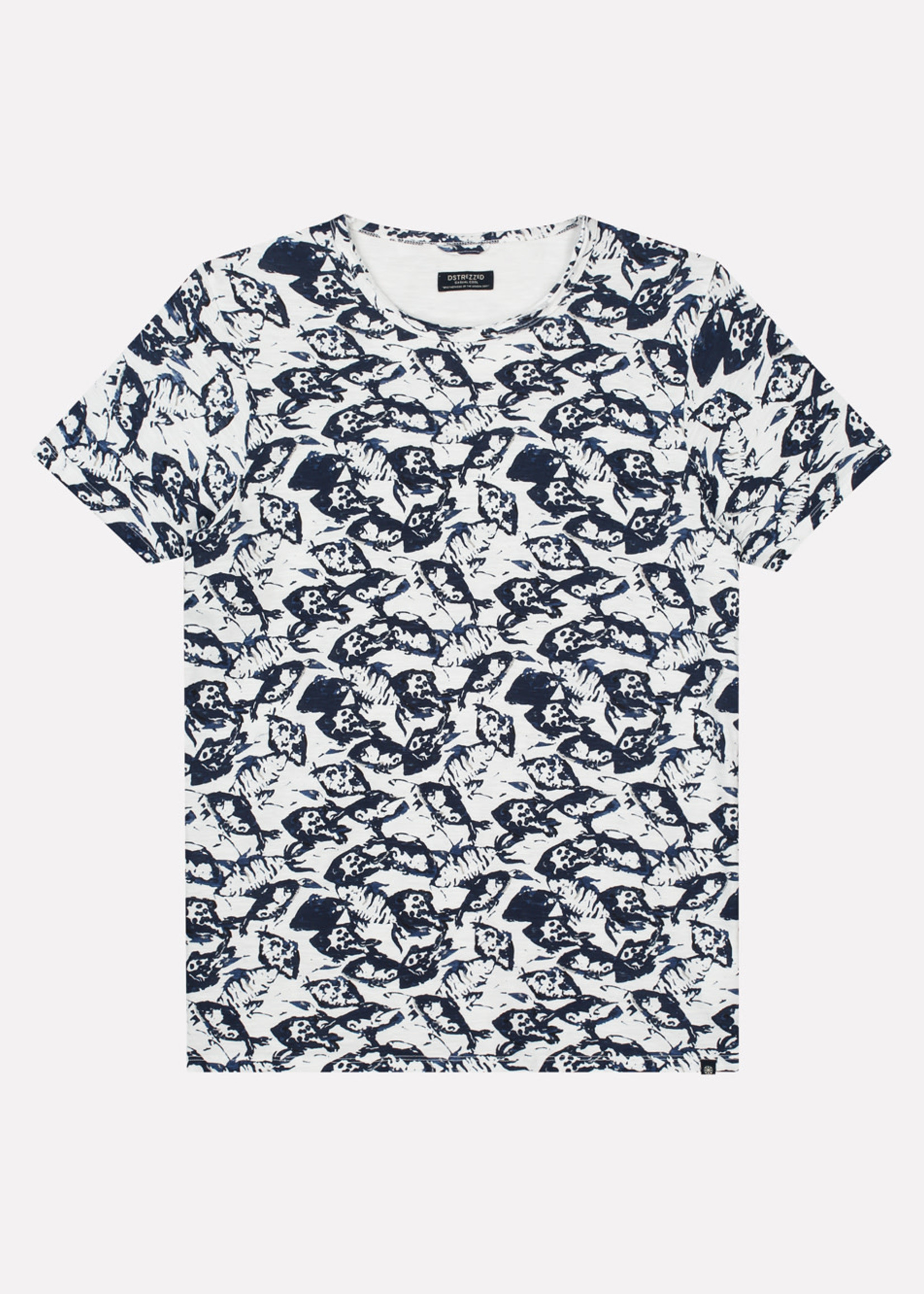 Dstrezzed T-shirt with sea print  | White | Dstrezzed