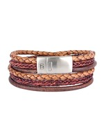 Steel & Barnett Leather Bracelet Bonacci - Caramel