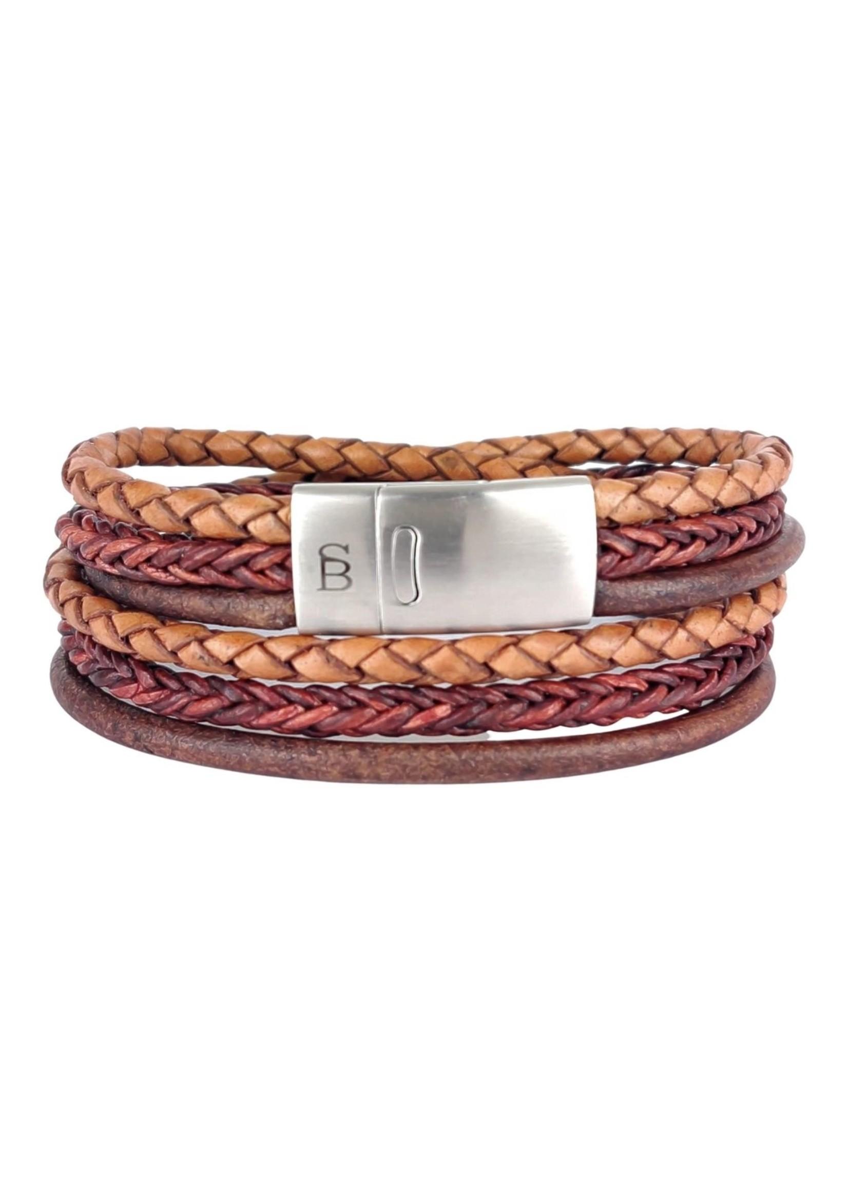 Steel & Barnett Leren Armband Bonacci | Caramel | Steel&Barnett