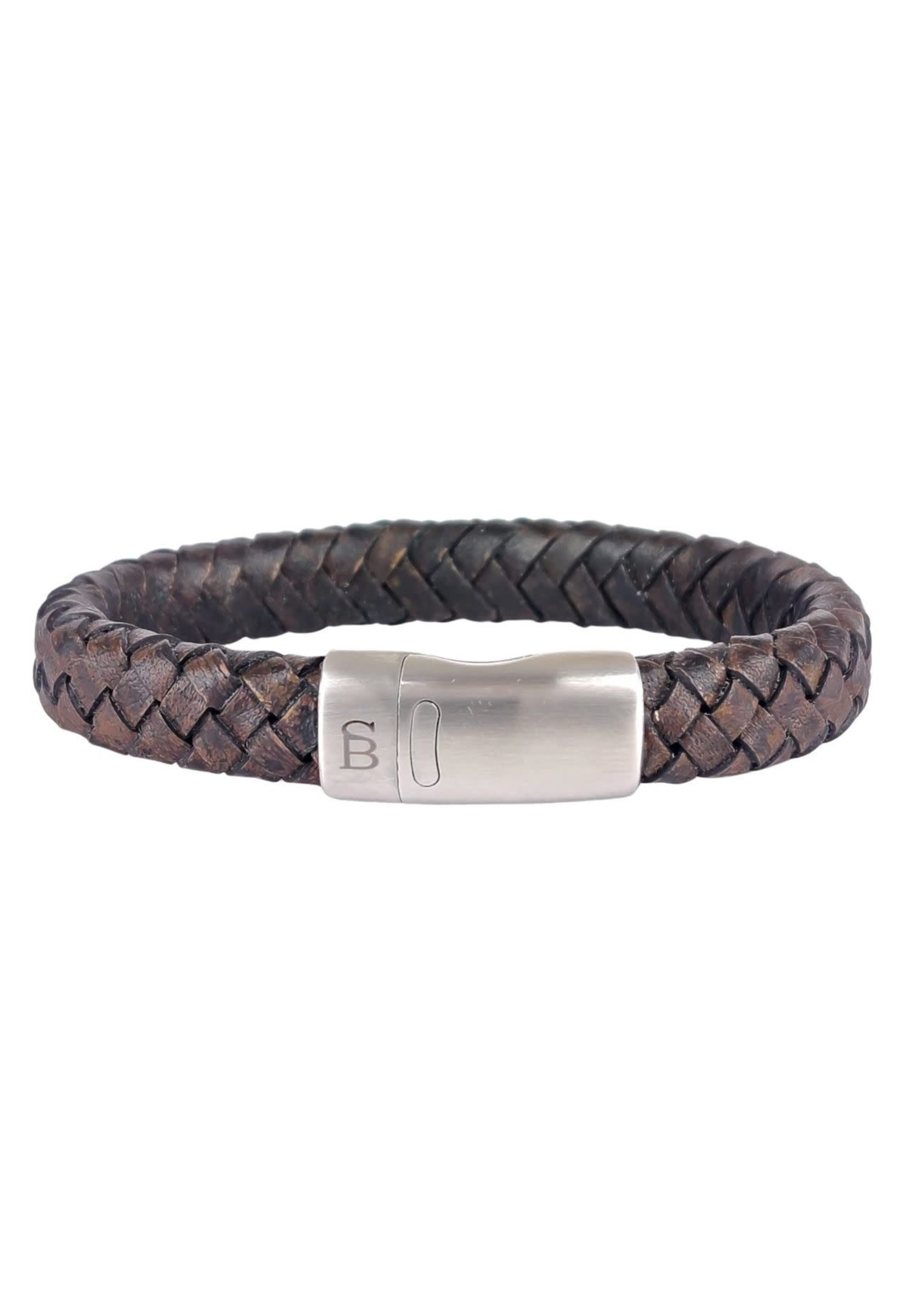 Steel & Barnett Leather Bracelet Cornall | Vintage Black | Steel&Barnett