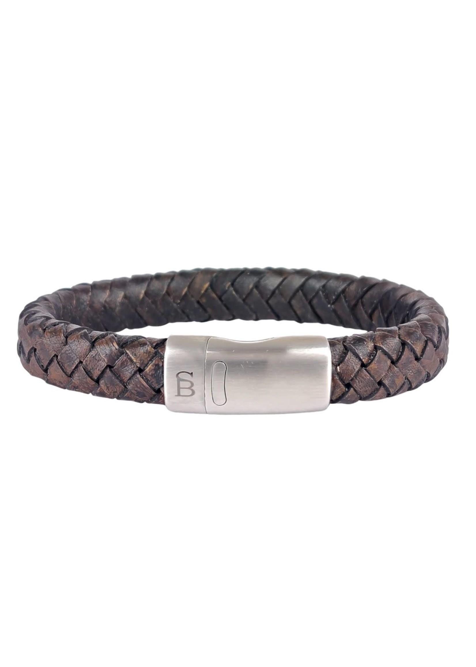Steel & Barnett Leren Armband Cornall | Vintage Black | Steel&Barnett