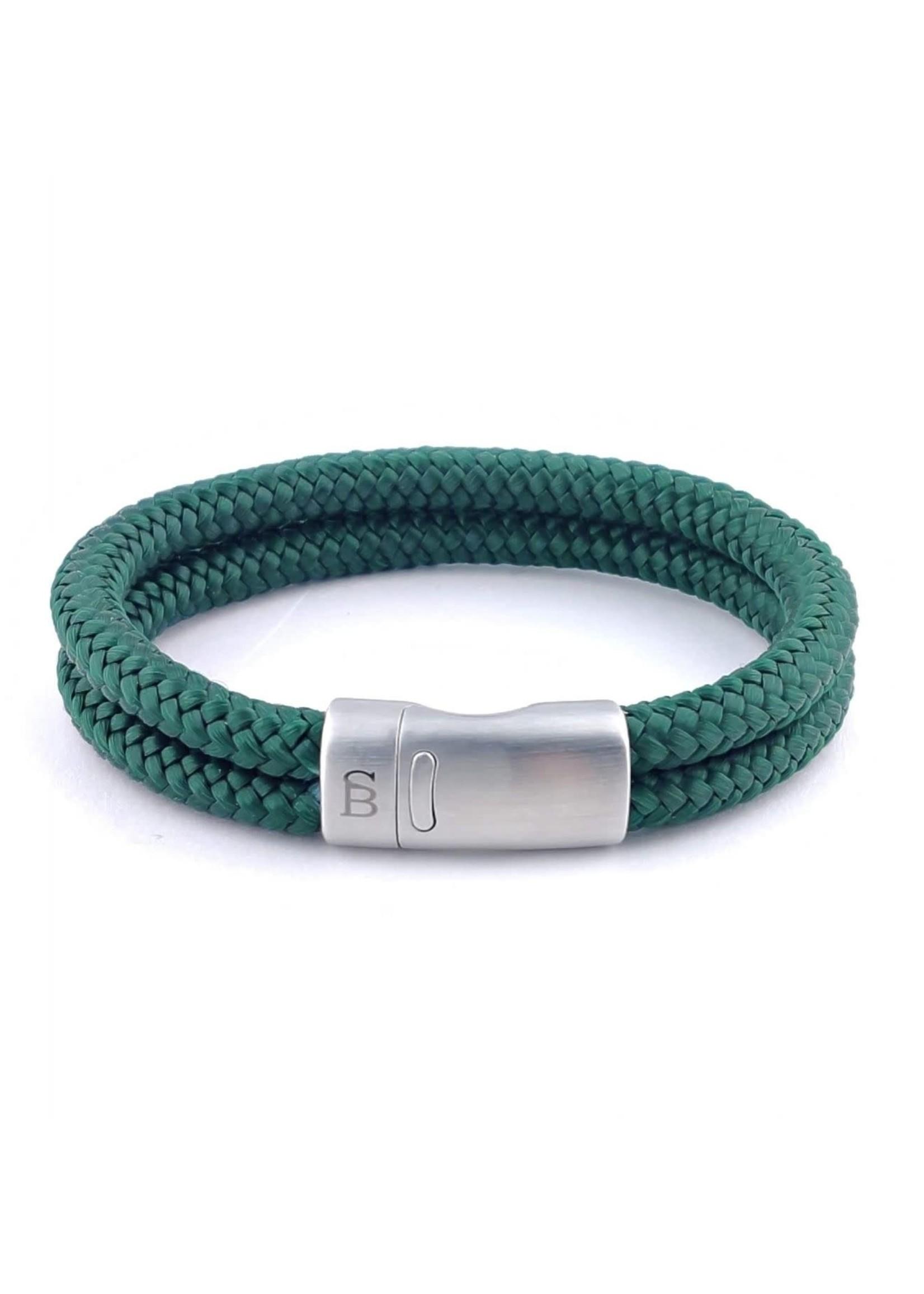 Steel & Barnett Bracelet en corde Lake | Dark Green | Steel&Barnett