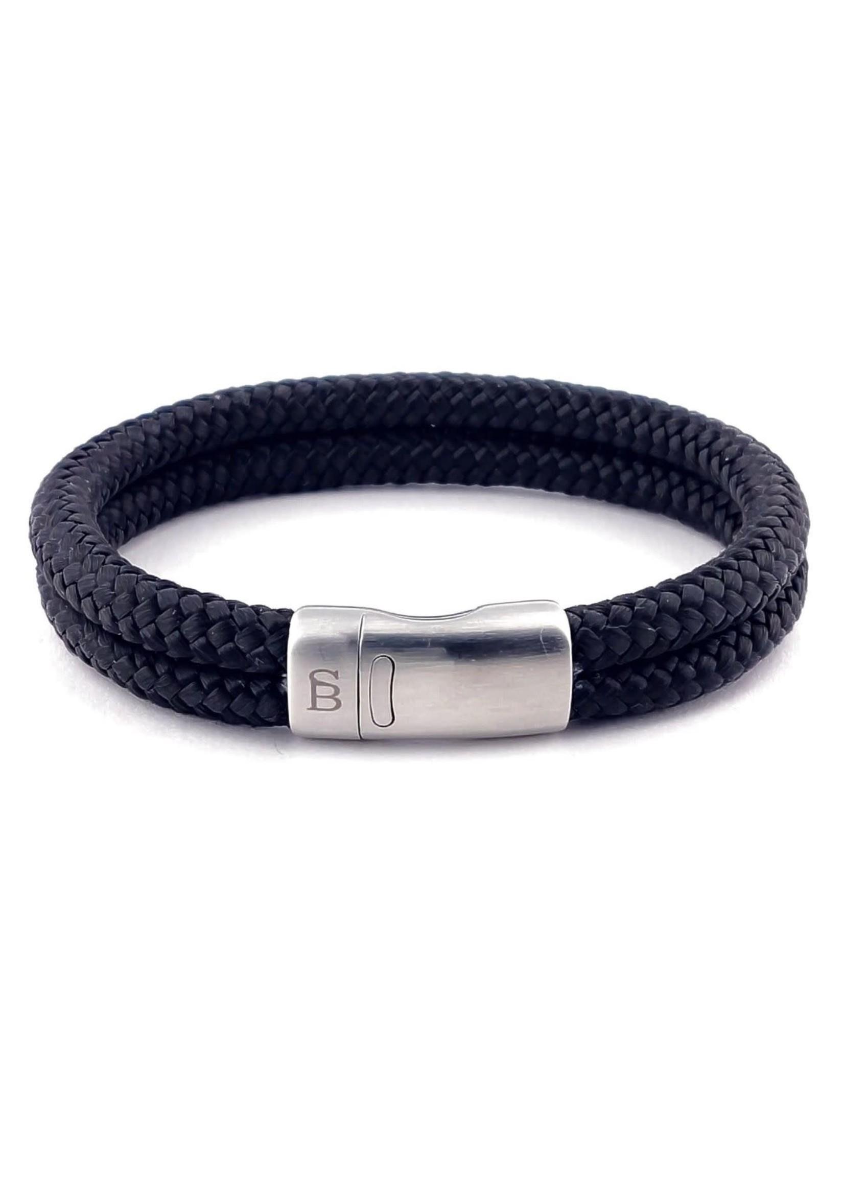 Steel & Barnett Bracelet en corde Lake | Black | Steel&Barnett