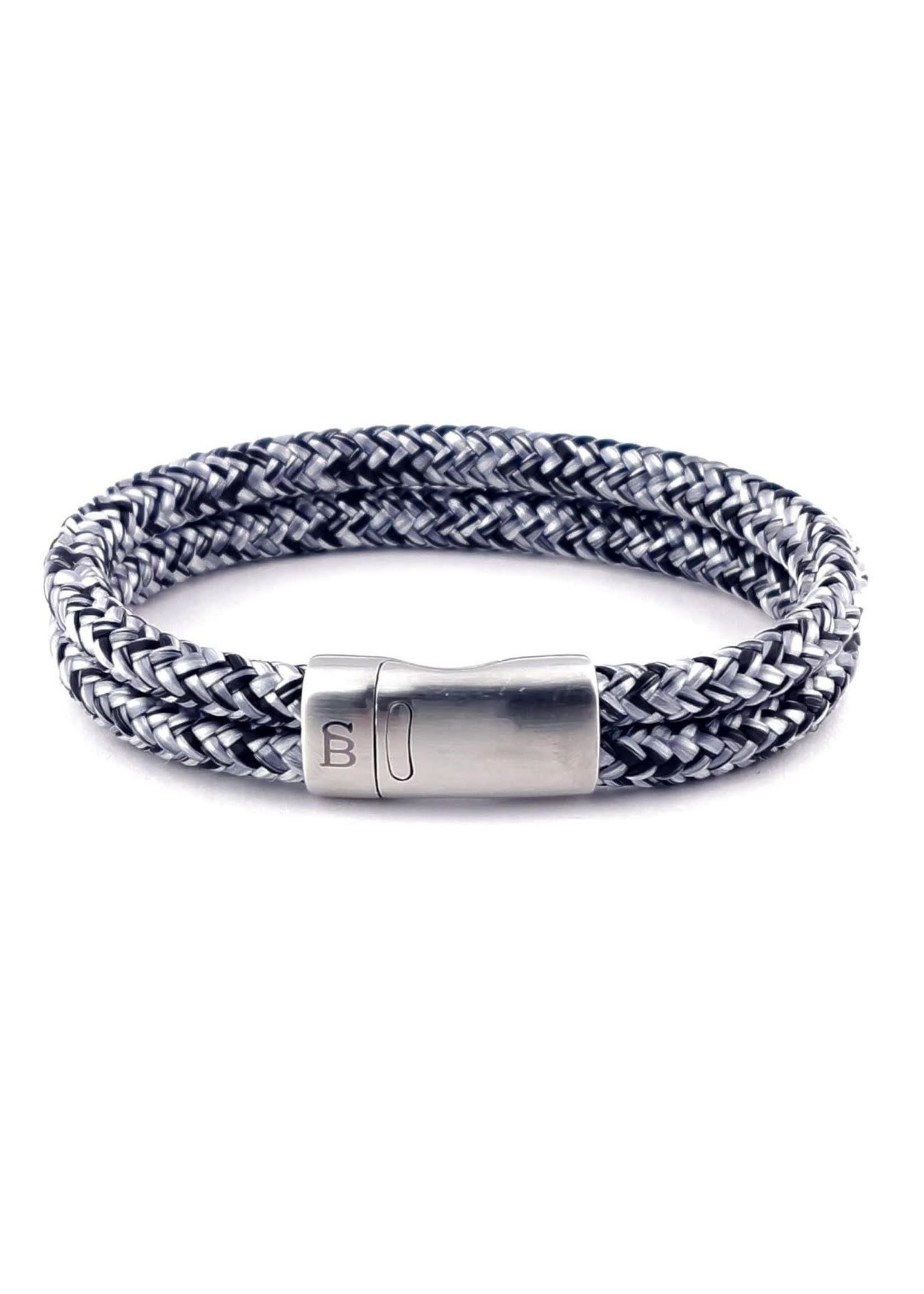 Steel & Barnett Bracelet en corde Lake | Black Denim | Steel&Barnett
