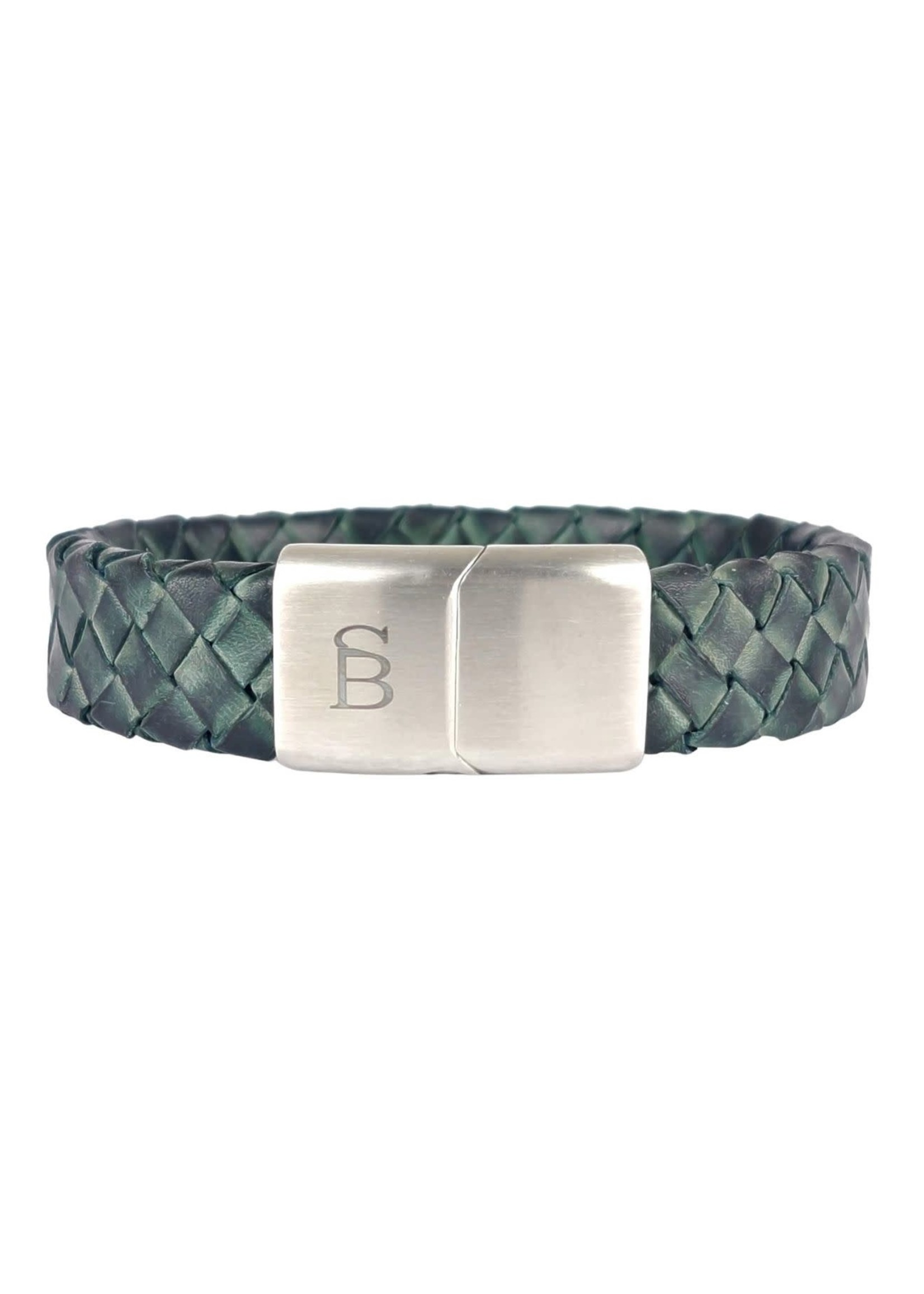 Steel & Barnett Leather Bracelet Preston | Matt Green | Steel&Barnett