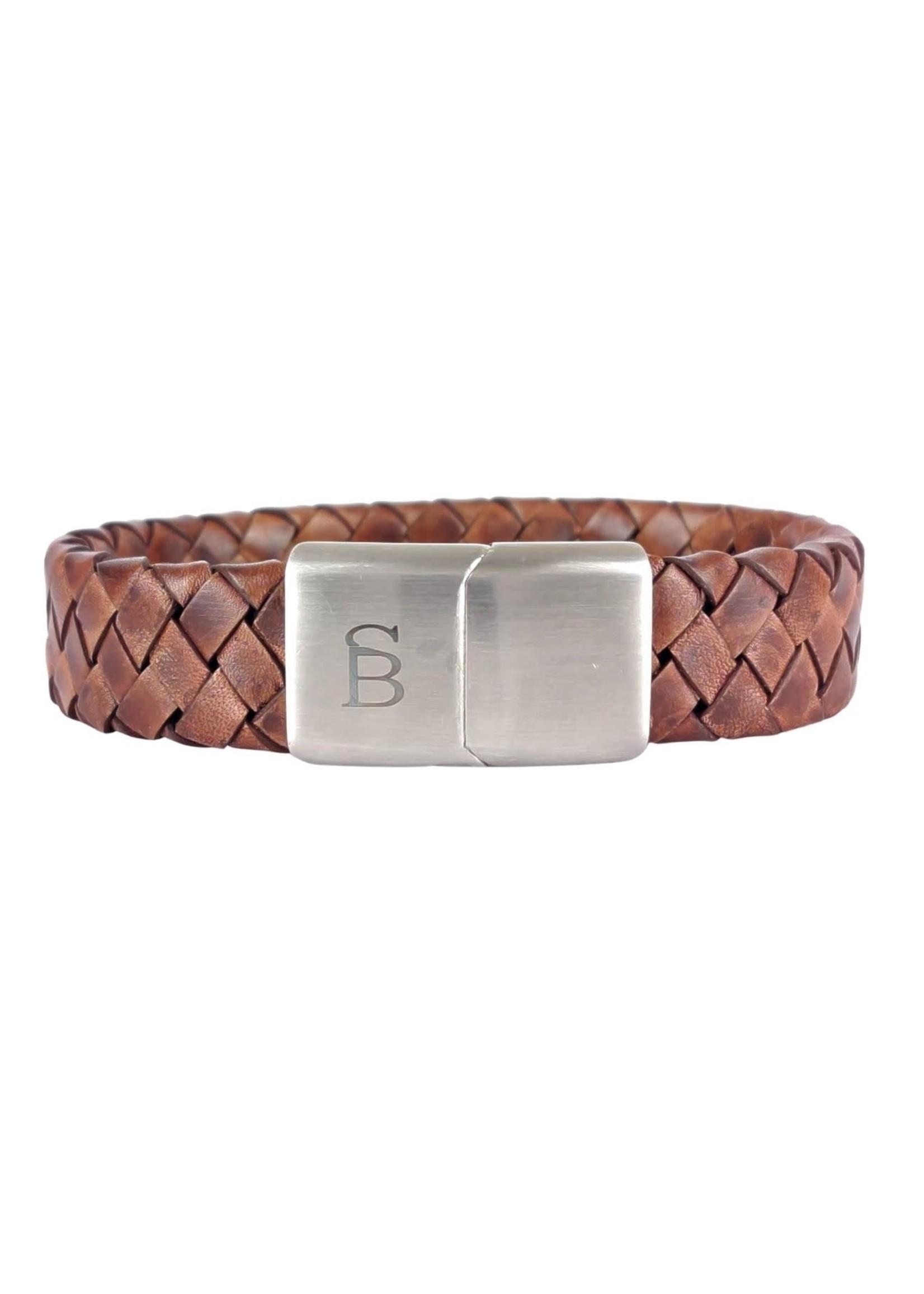 Steel & Barnett Leather Bracelet Preston | Caramel | Steel&Barnett