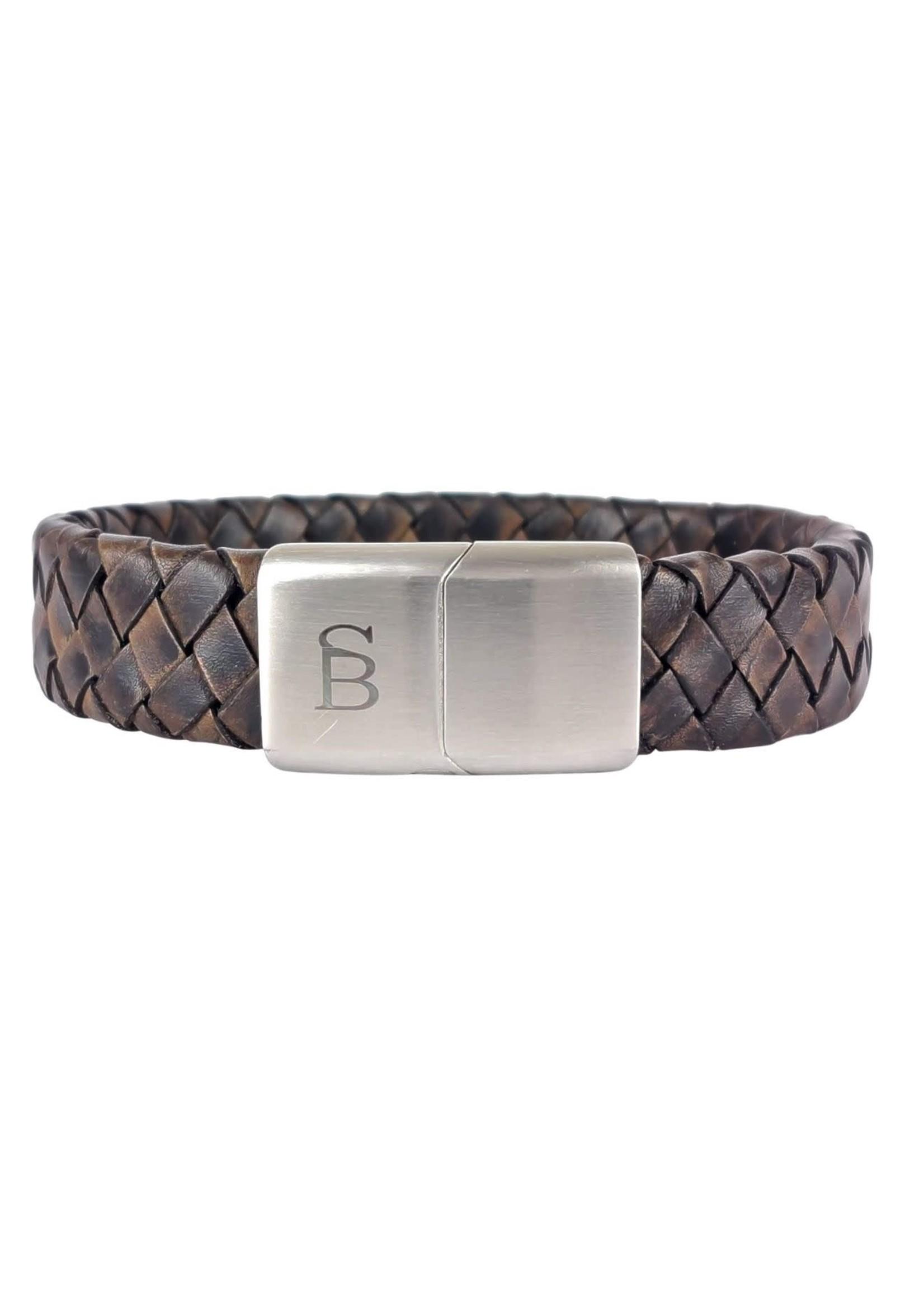 Steel & Barnett Leather Bracelet Preston   Vintage Brown   Steel&Barnett