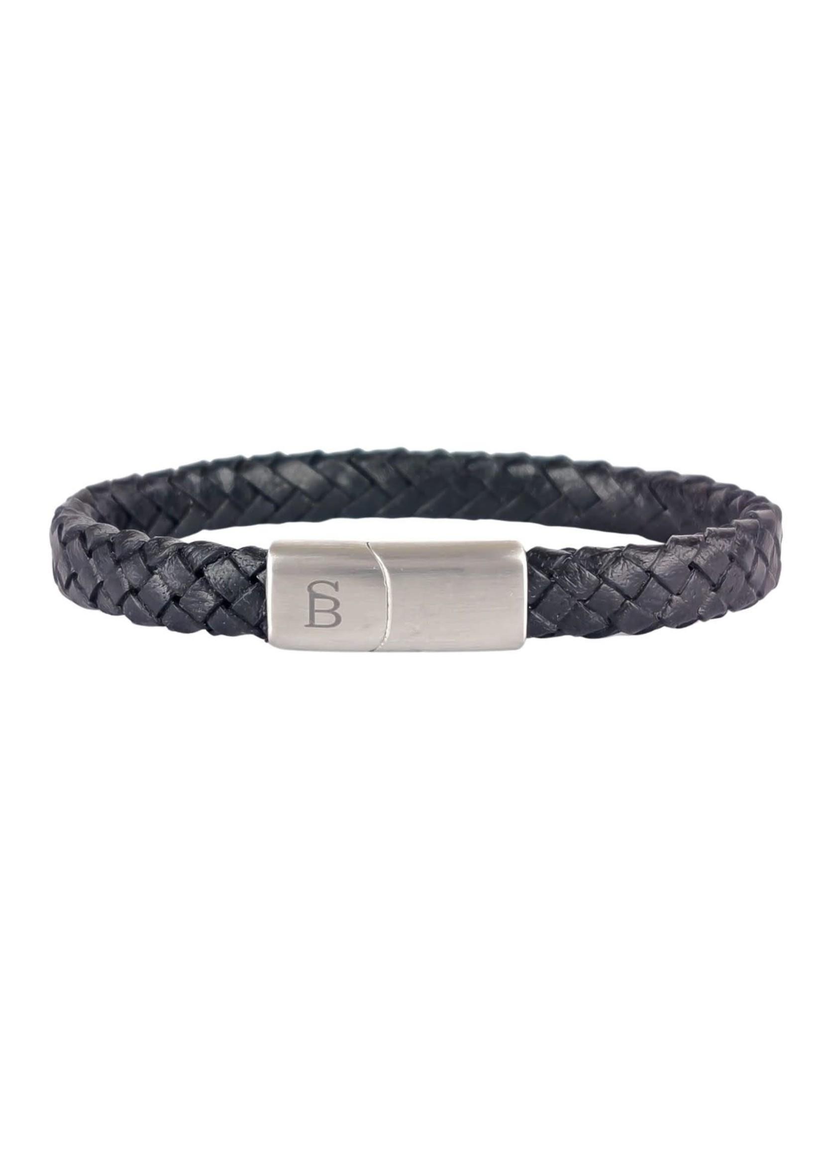 Steel & Barnett Leren Armband Riley | Black | Steel&Barnett