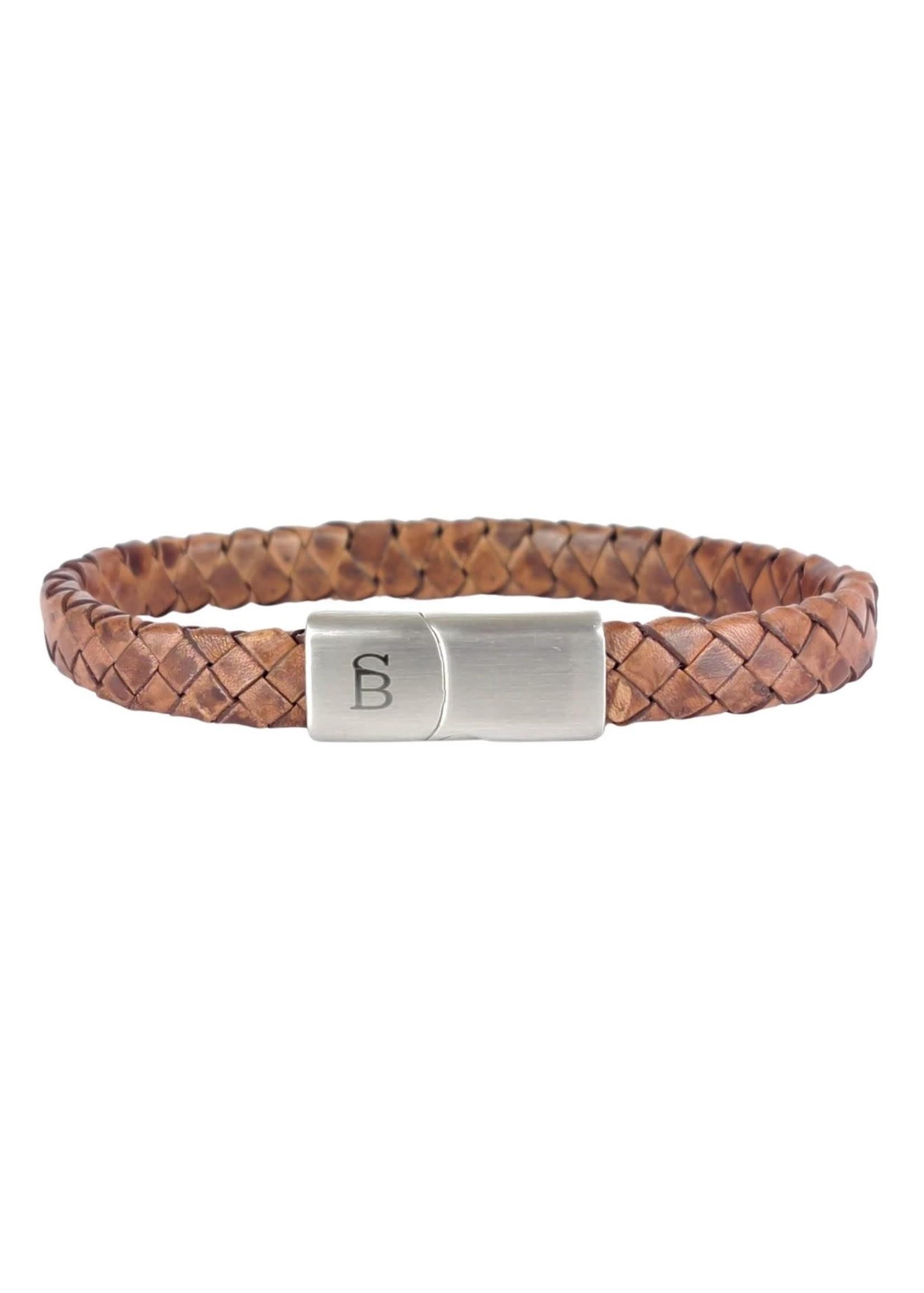 Steel & Barnett Leather Bracelet Riley | Caramel | Steel&Barnett