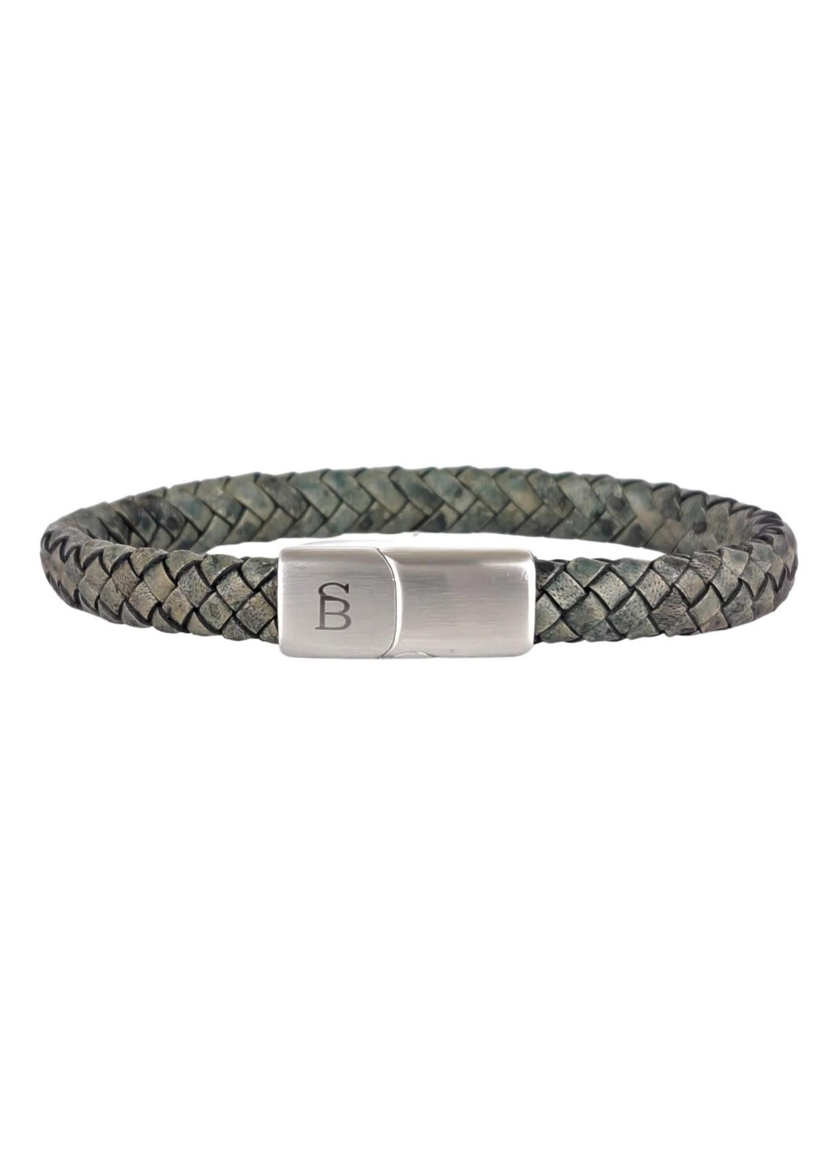 Steel & Barnett Leren Armband Riley | Dark Green | Steel&Barnett