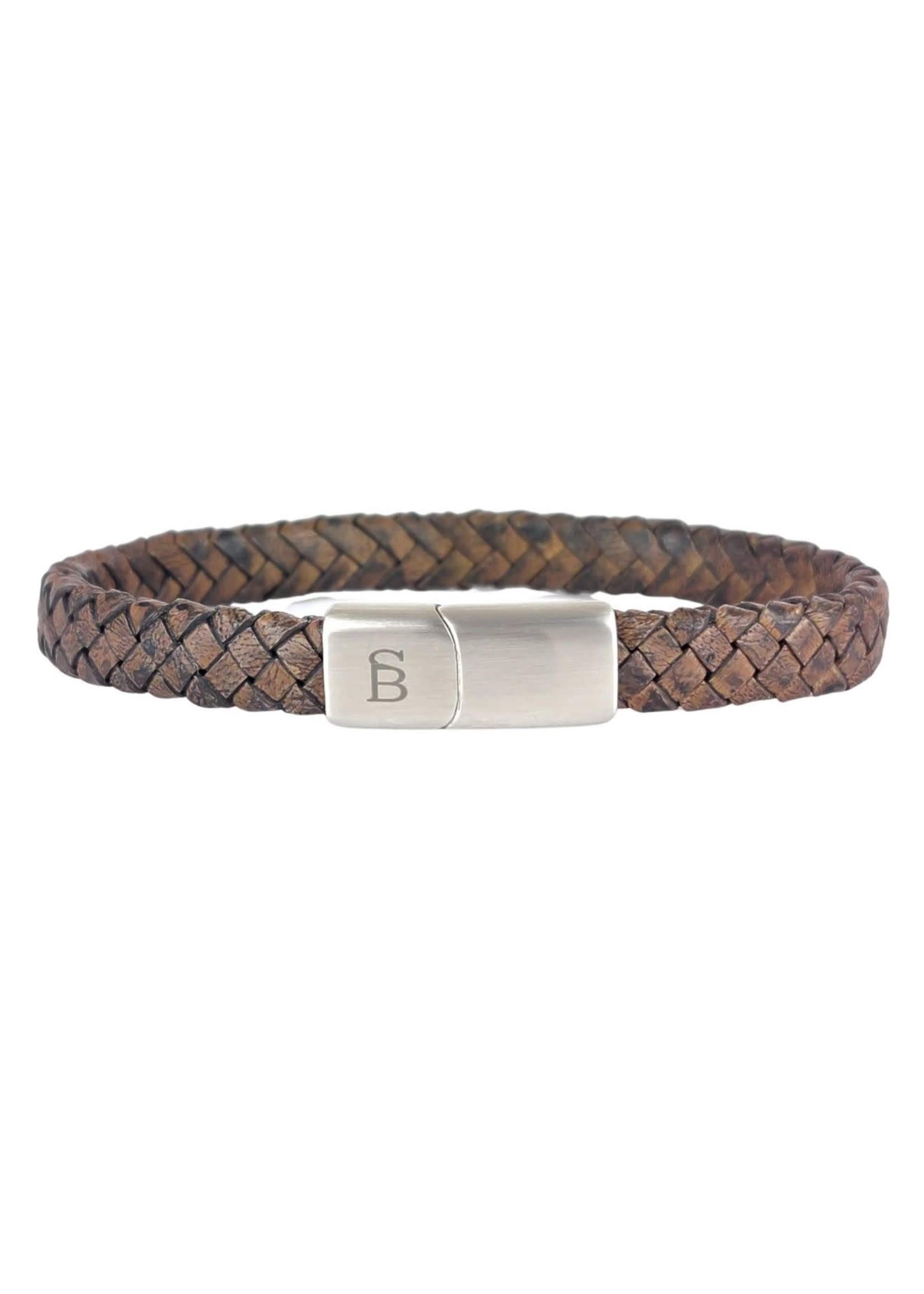 Steel & Barnett Leren Armband Riley | Vintage Brown | Steel&Barnett