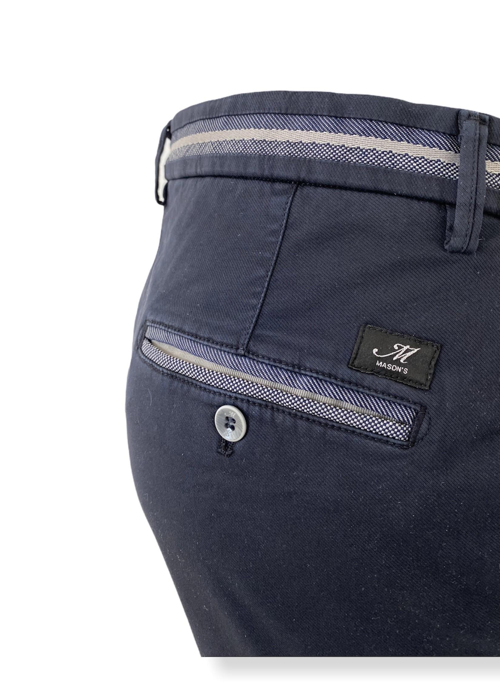 Mason's Torino Elegance Slim Fit Cotton Pants | Navy Blue | Mason's