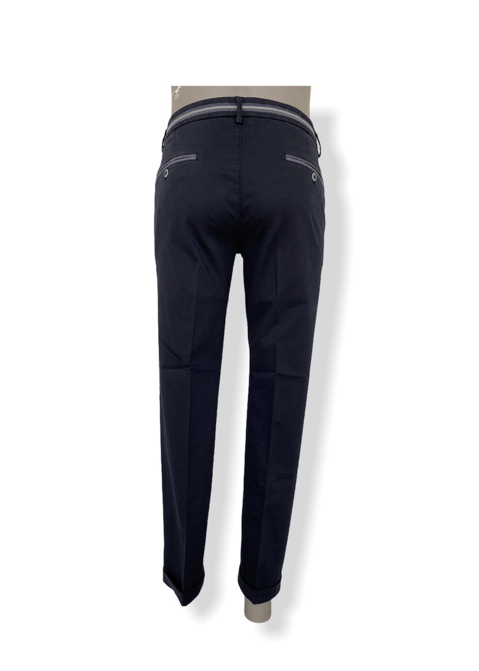 Mason's Torino Elegance Slim Fit Katoenen Broek | Marineblauw | Mason's