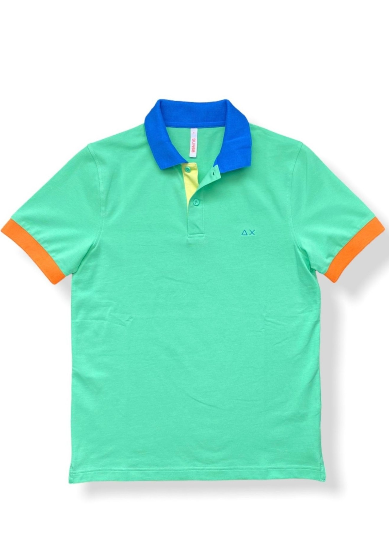 SUN68 Polo 3 Color Way EL. | Vert | SUN68