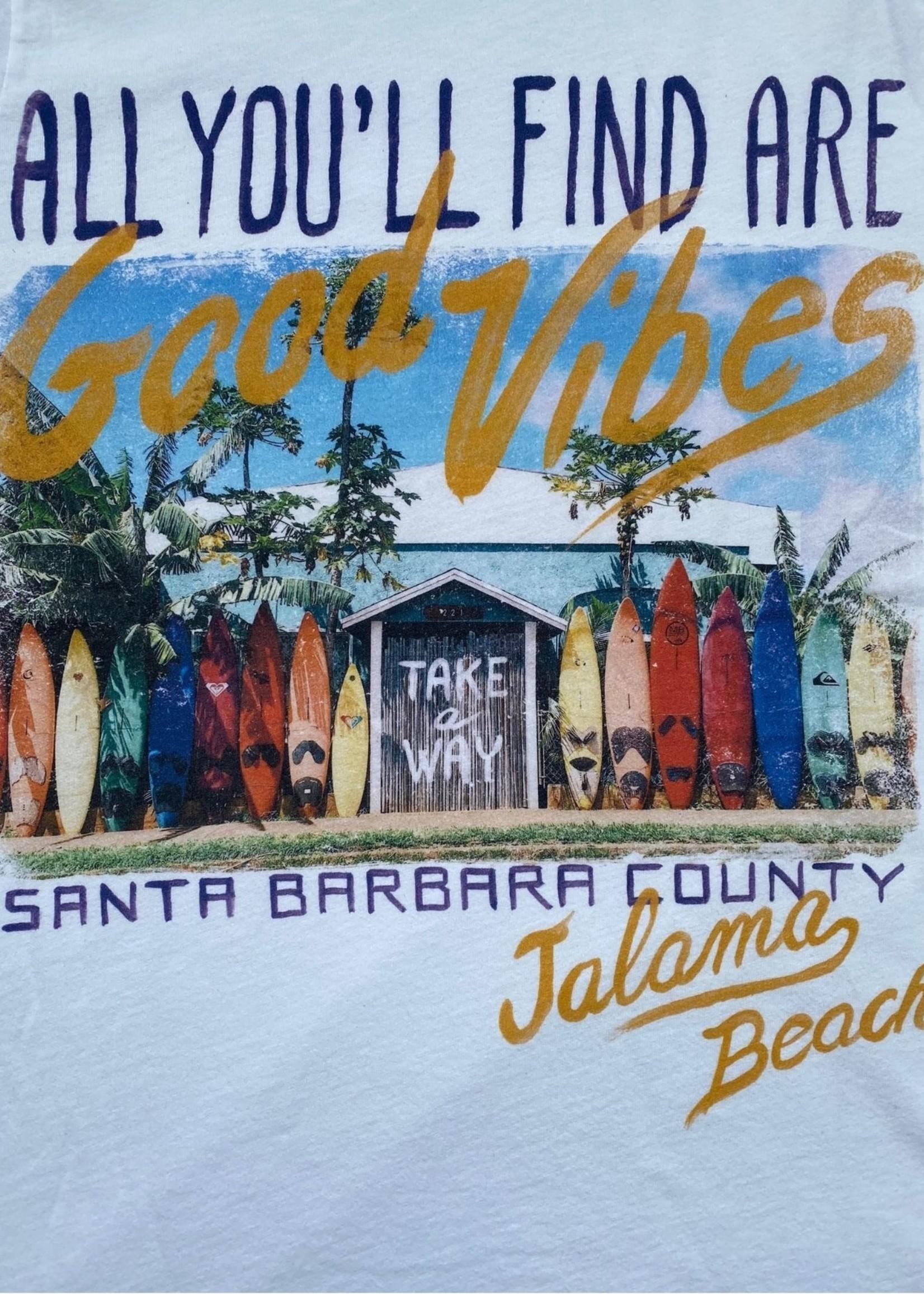 Take A Way T-Shirt Good Vibes | White | Take a Way