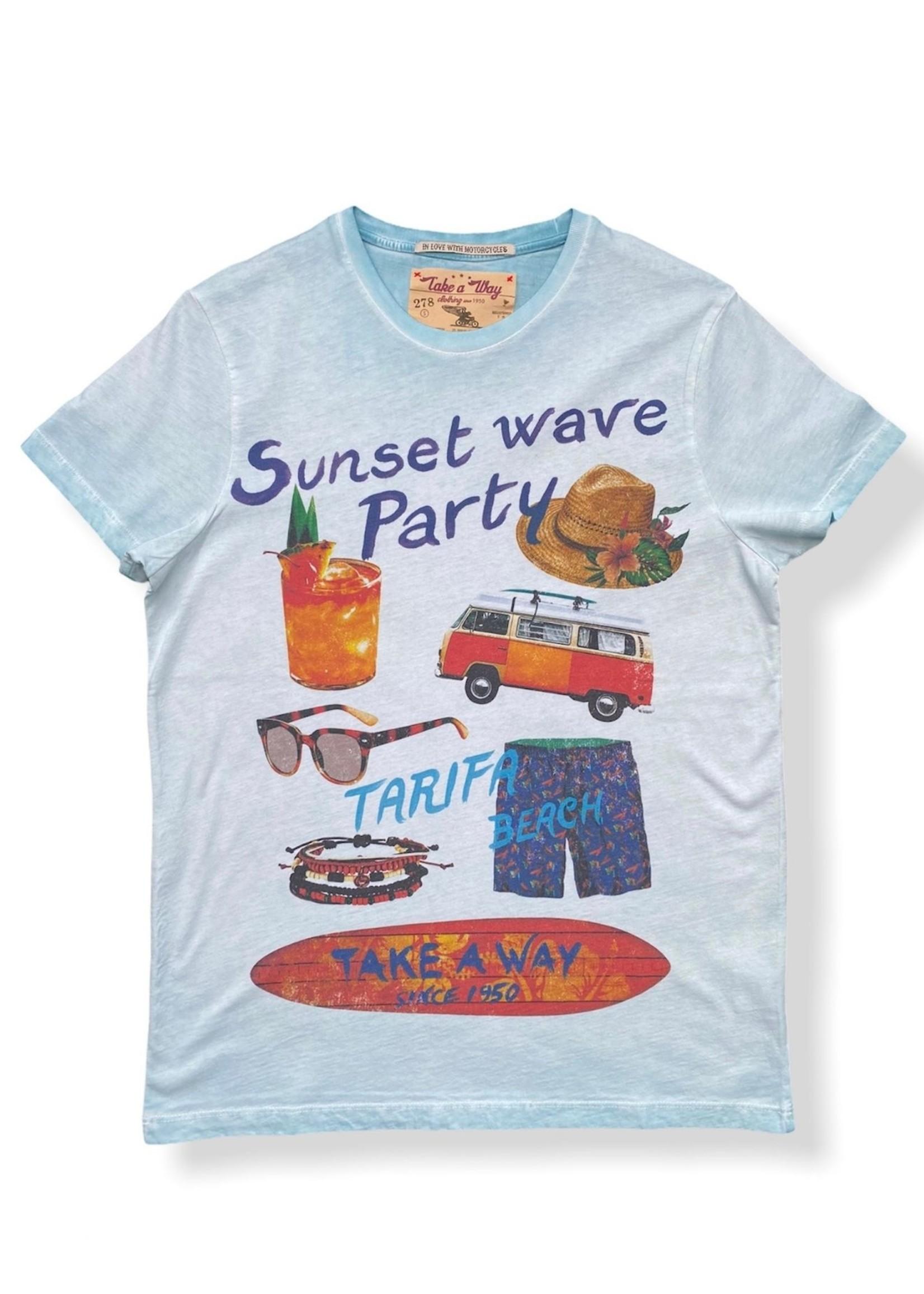 Take A Way T-Shirt Party | Bleu ciel | Take a Way