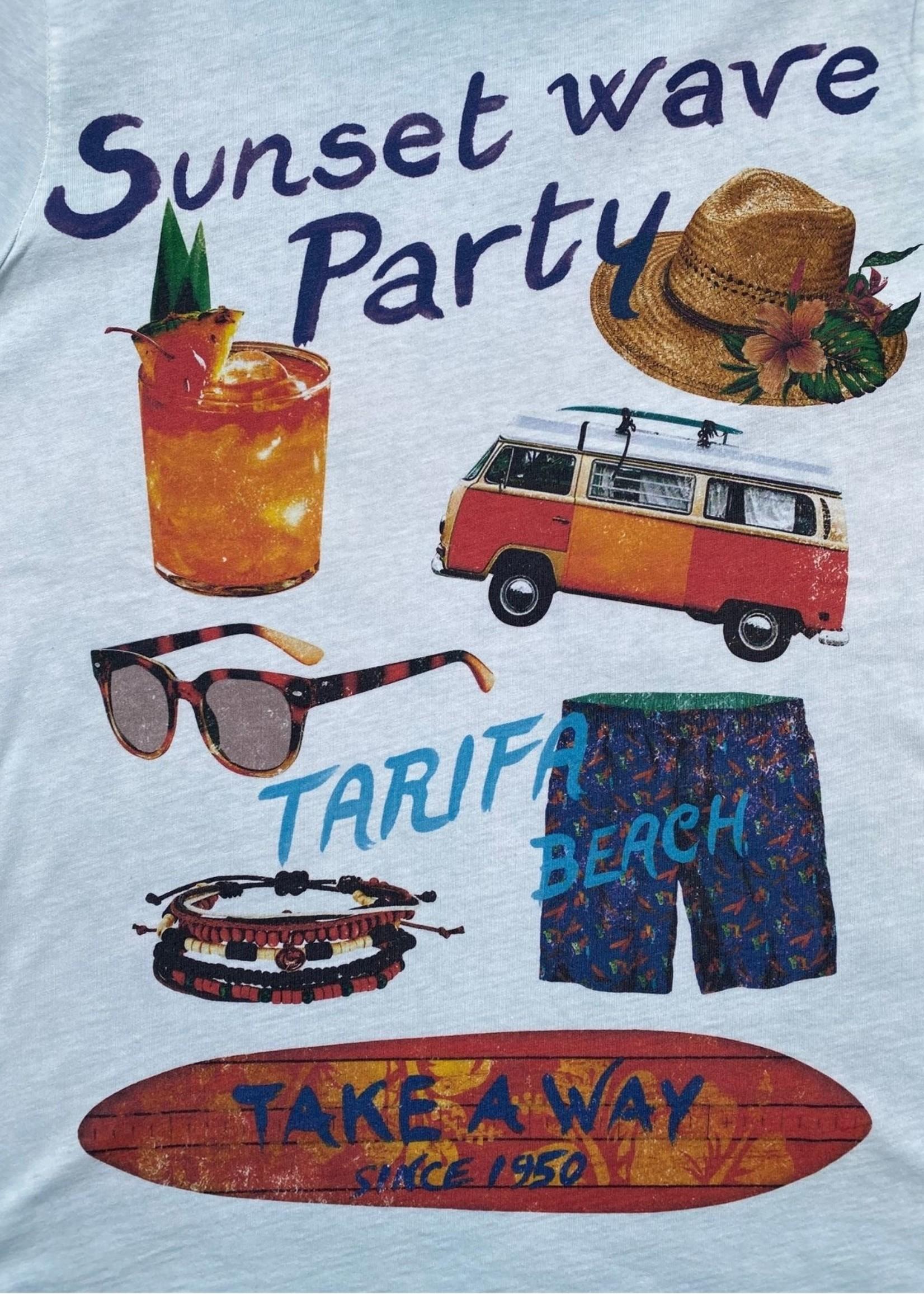 Take A Way T-Shirt Party | Lichtblauw | Take a Way