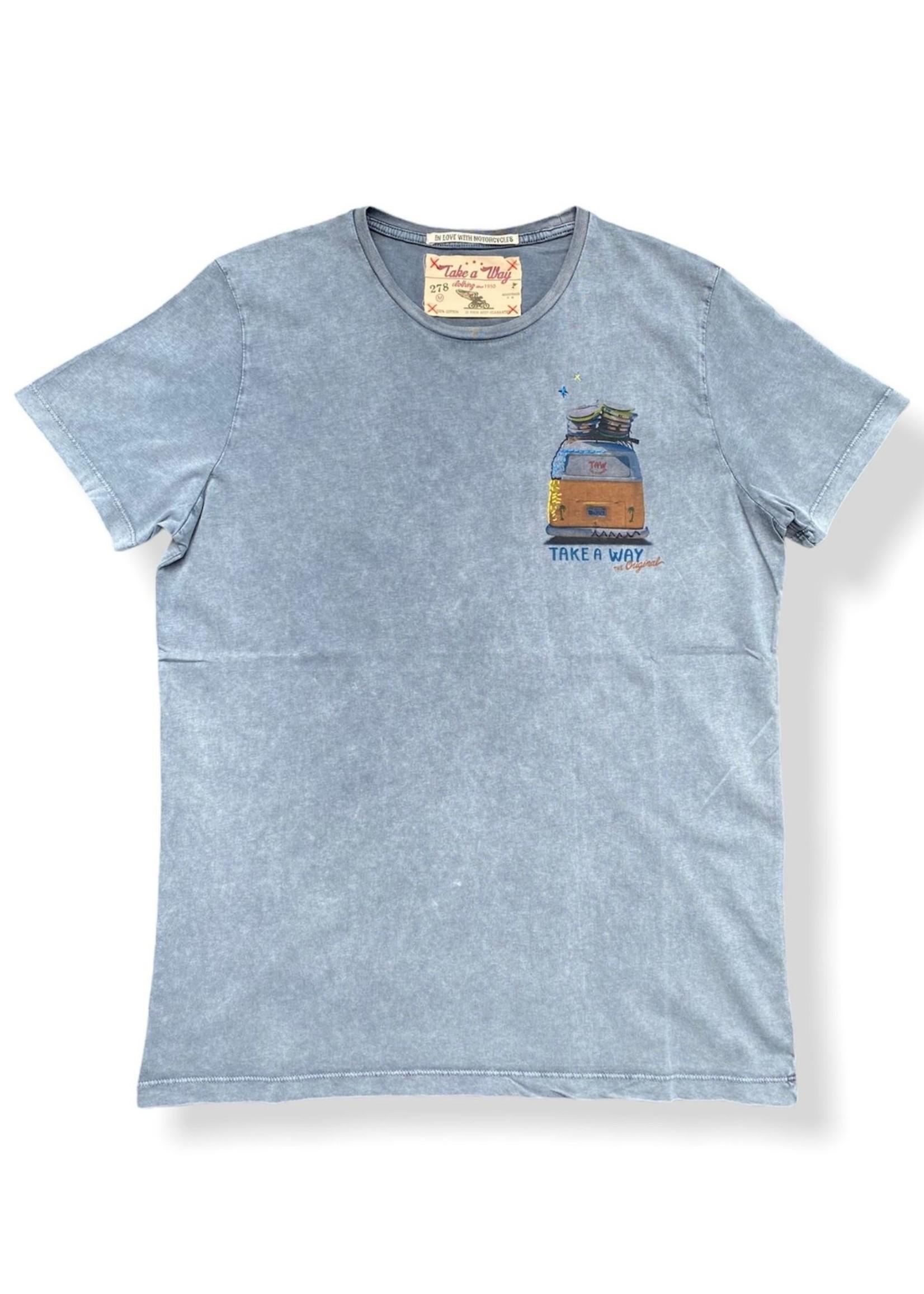 Take A Way T-Shirt Wagen | Grijs | Take a Way