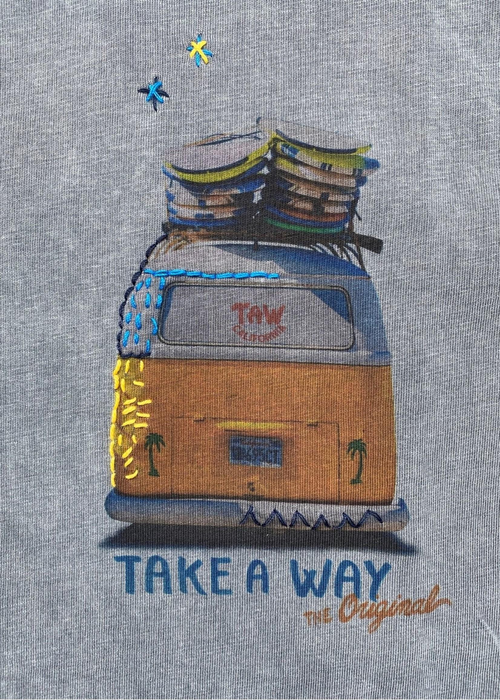 Take A Way T-Shirt Wagen | Gris | Take a Way